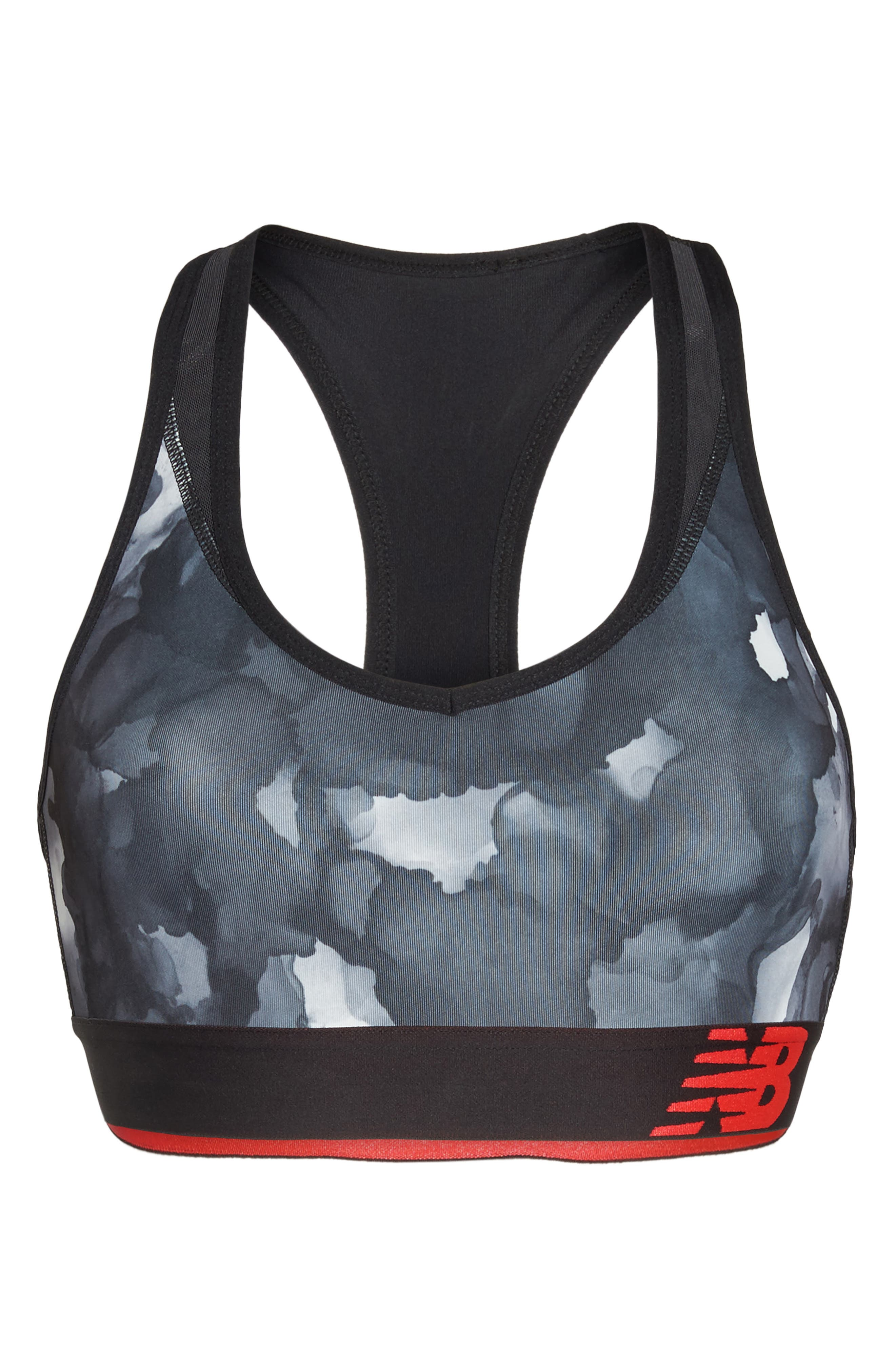 Pace Print Sports Bra,                             Alternate thumbnail 7, color,                             035