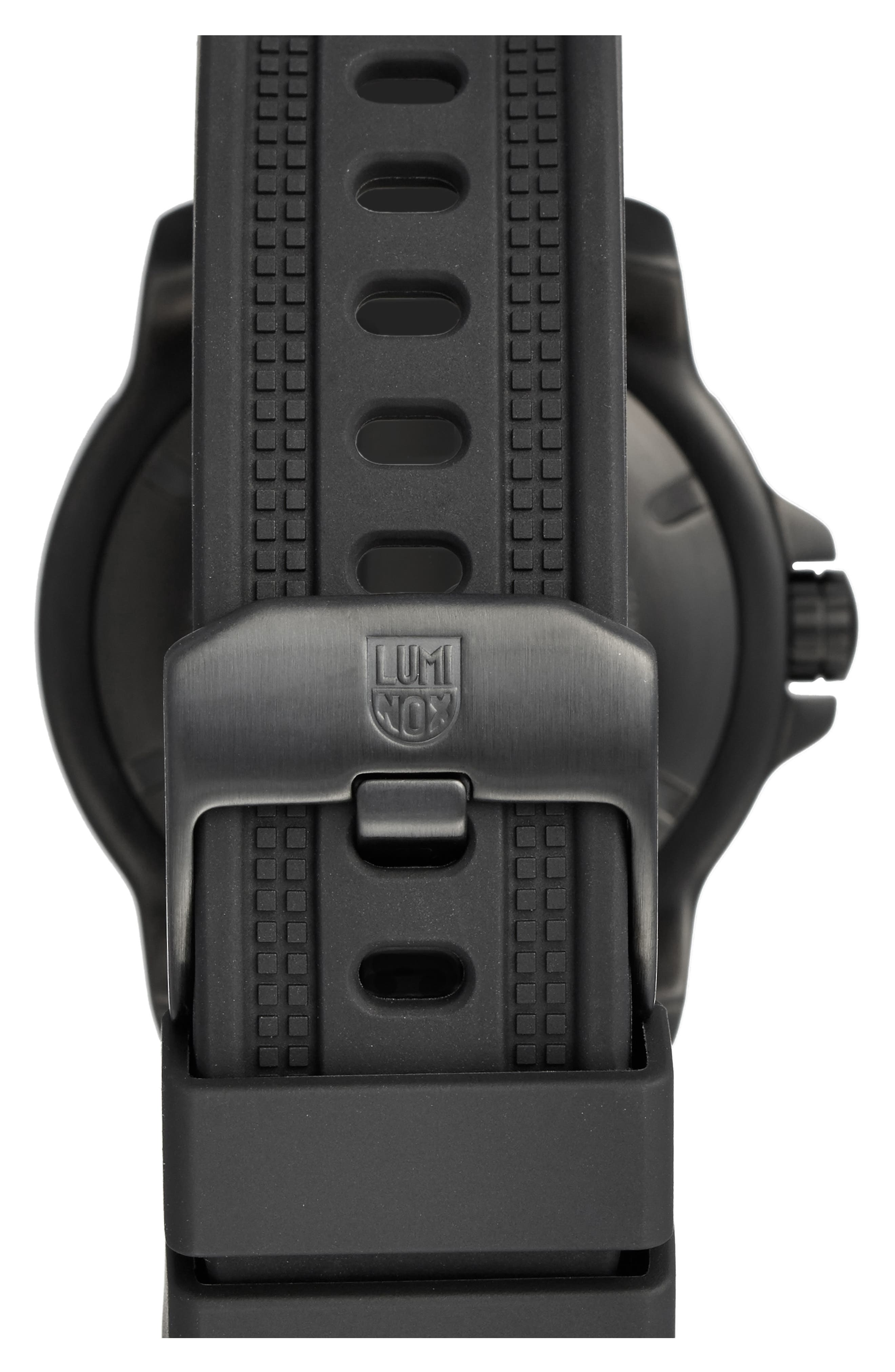 'Sea - ANU' Polyurethane Strap Watch, 45mm,                             Alternate thumbnail 6, color,                             001