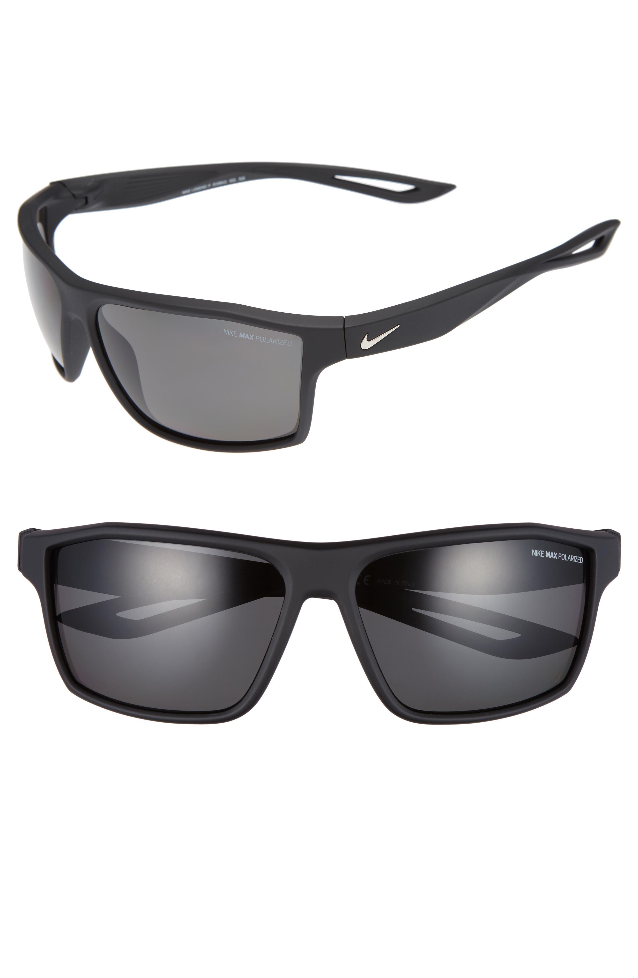 Nike Legend 65Mm Polarized Multi-Sport Sunglasses - Matte Black/ Silver
