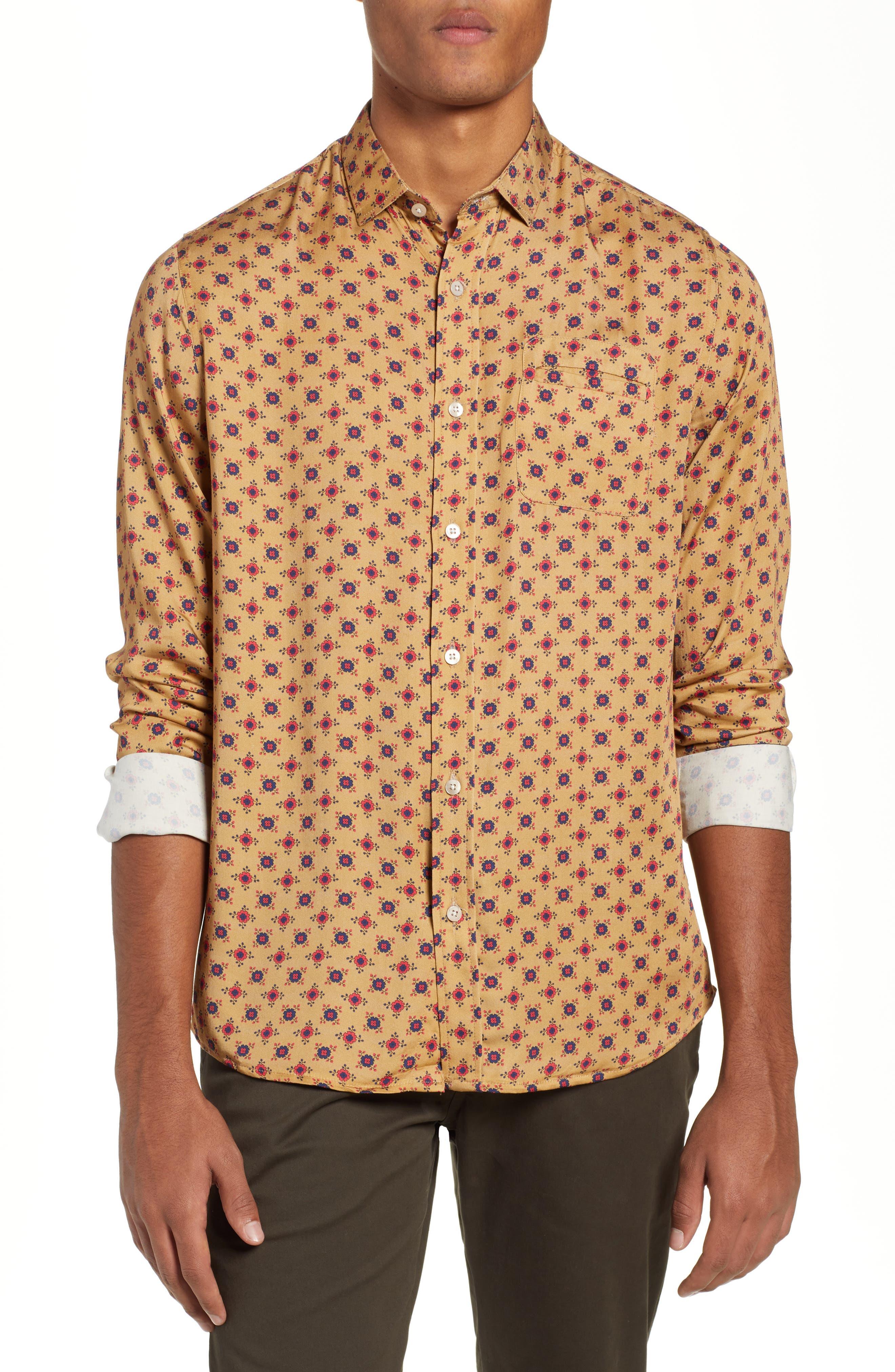Nonna Wall Long Sleeve Woven Shirt,                         Main,                         color, KHAKI