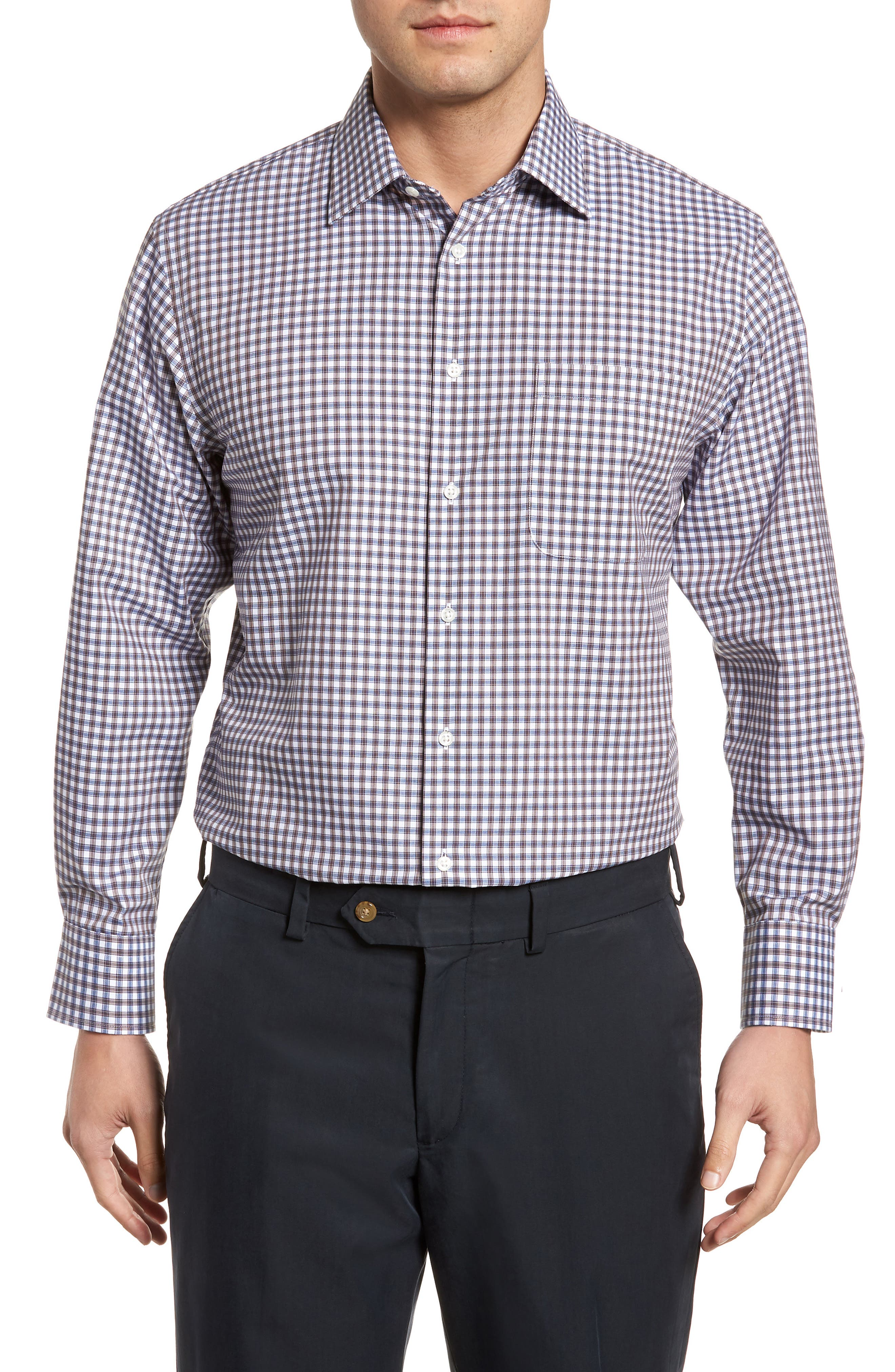 Traditional Fit Non-Iron Check Dress Shirt,                         Main,                         color, 210