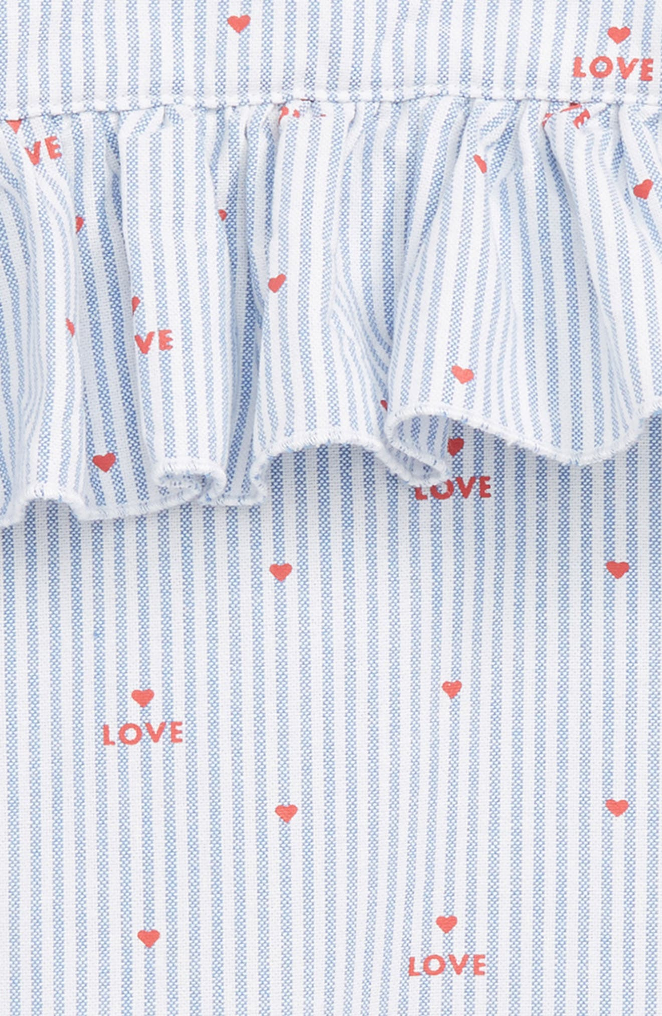 Pinstripe Heart Romper,                             Alternate thumbnail 2, color,                             400