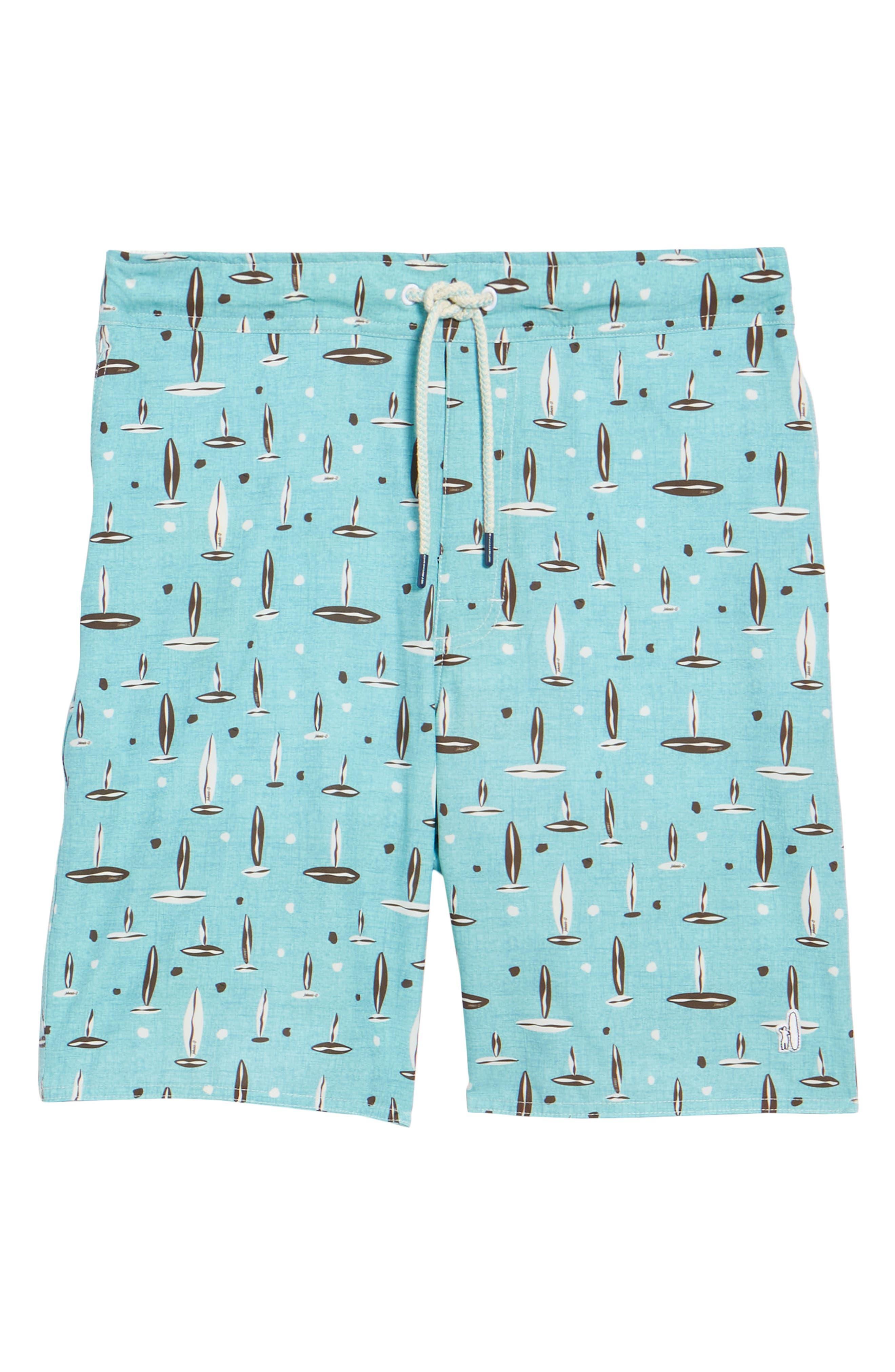 Rowan Regular Fit Board Shorts,                             Alternate thumbnail 6, color,                             SURF