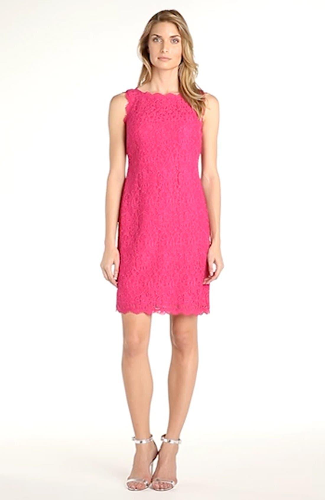 Boatneck Lace Sheath Dress,                             Alternate thumbnail 117, color,