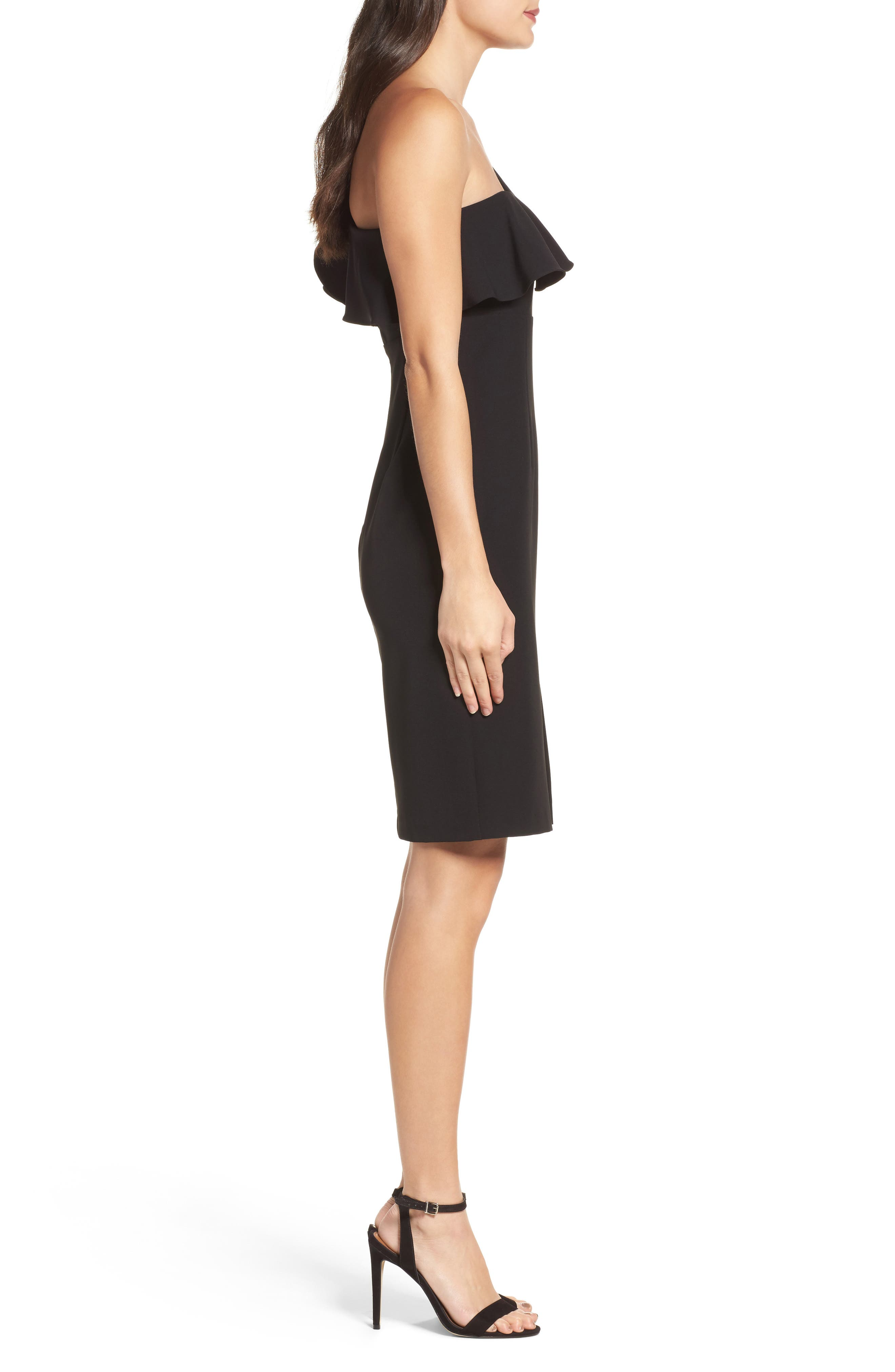 One-Shoulder Ruffle Sheath Dress,                             Alternate thumbnail 5, color,