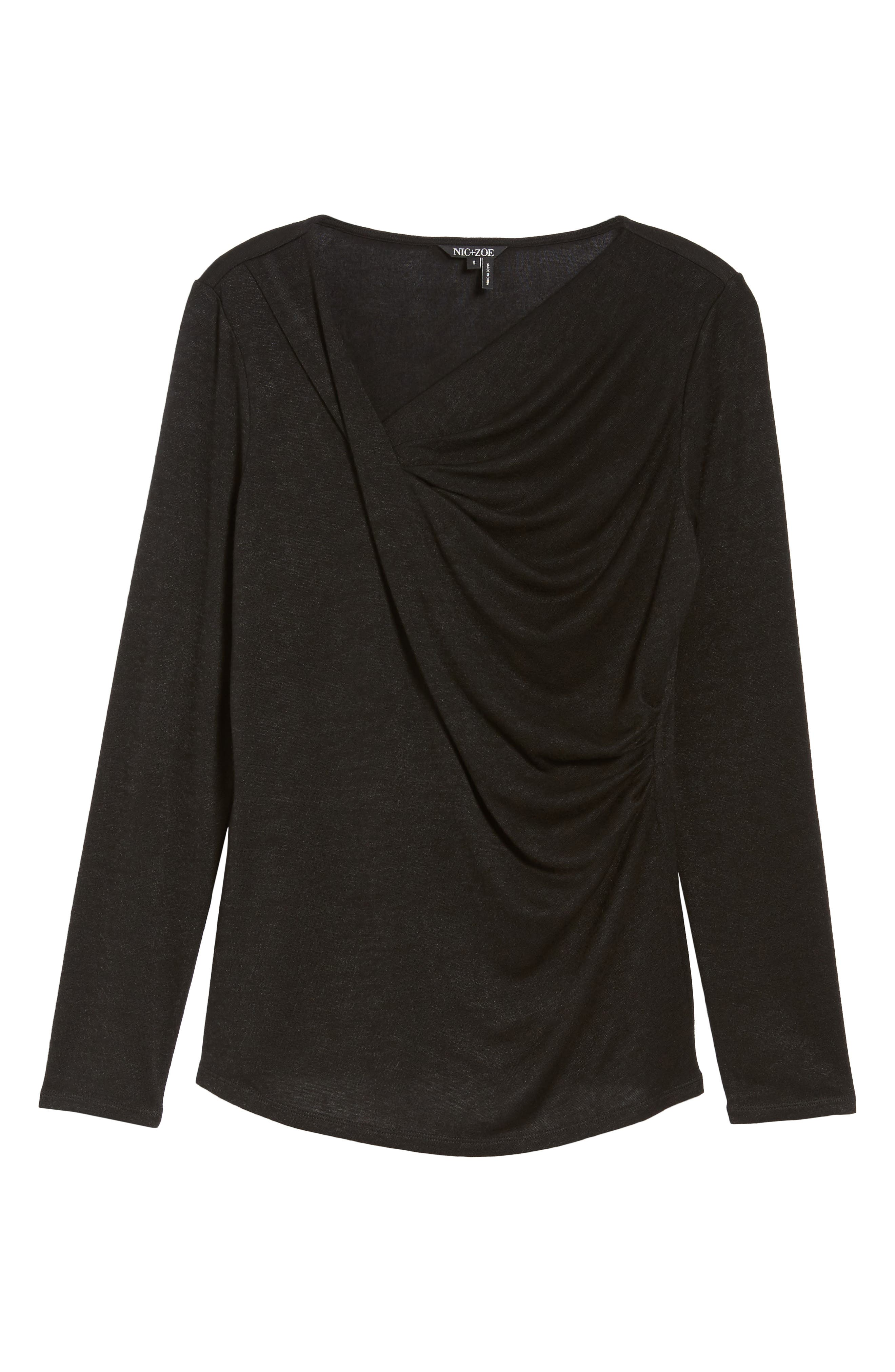 Every Occasion Drape Top,                             Alternate thumbnail 6, color,                             004
