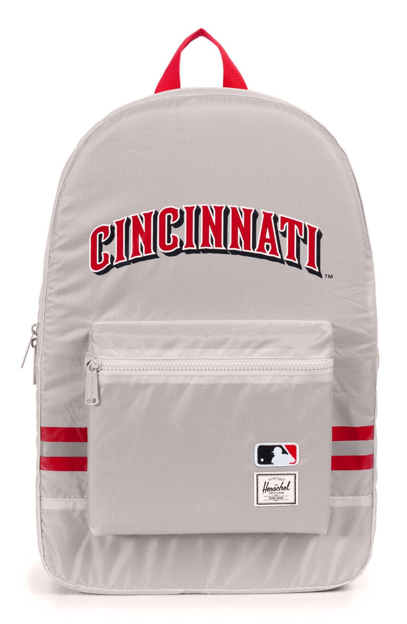 Packable - MLB National League Backpack,                             Main thumbnail 1, color,                             CINCINNATI REDS