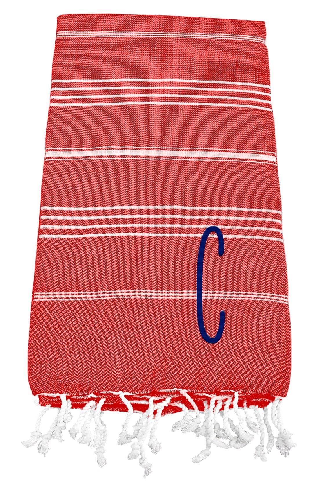 Monogram Turkish Cotton Towel,                             Main thumbnail 112, color,
