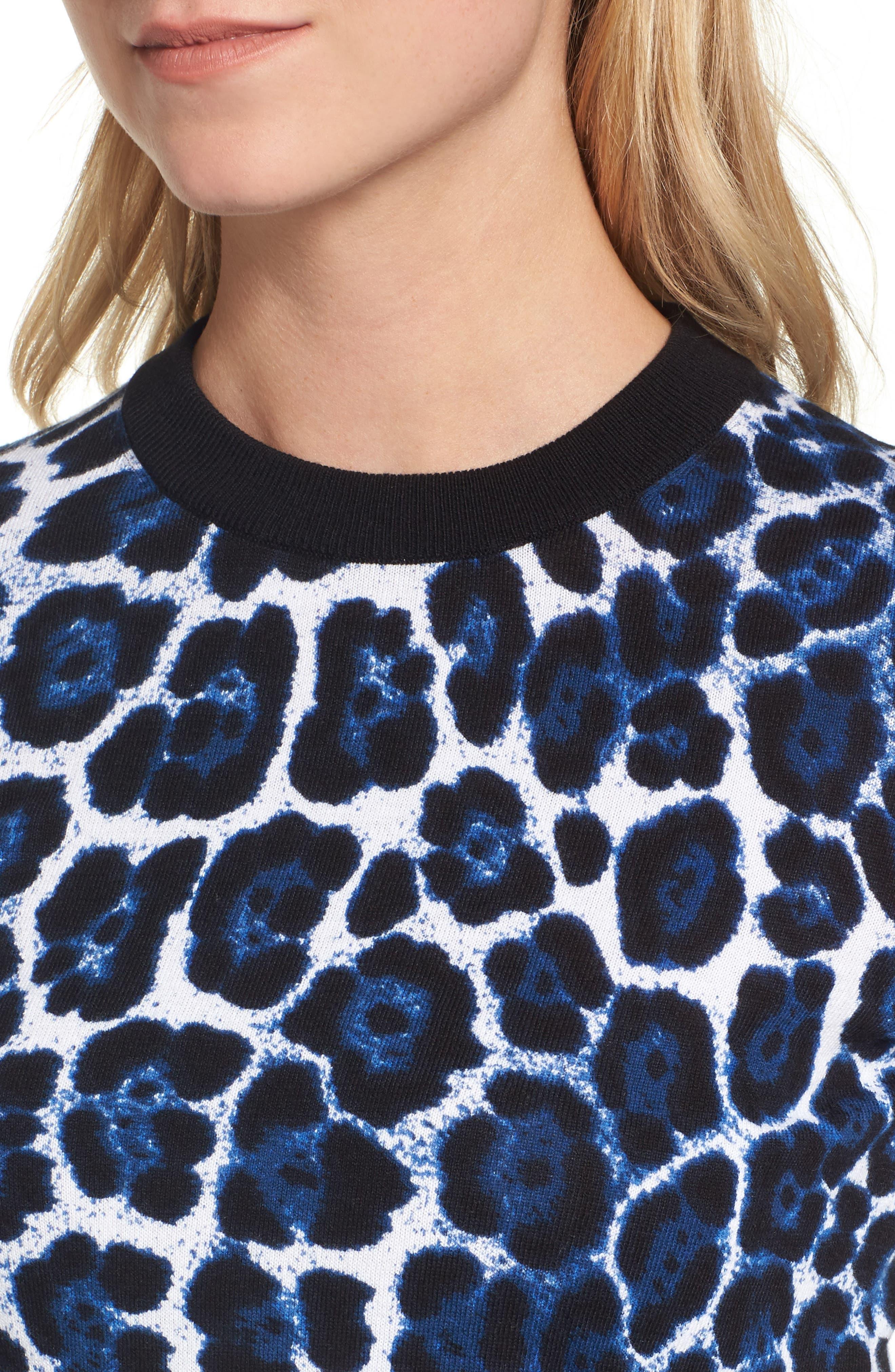 Cheetah Print Sweater,                             Alternate thumbnail 4, color,                             403