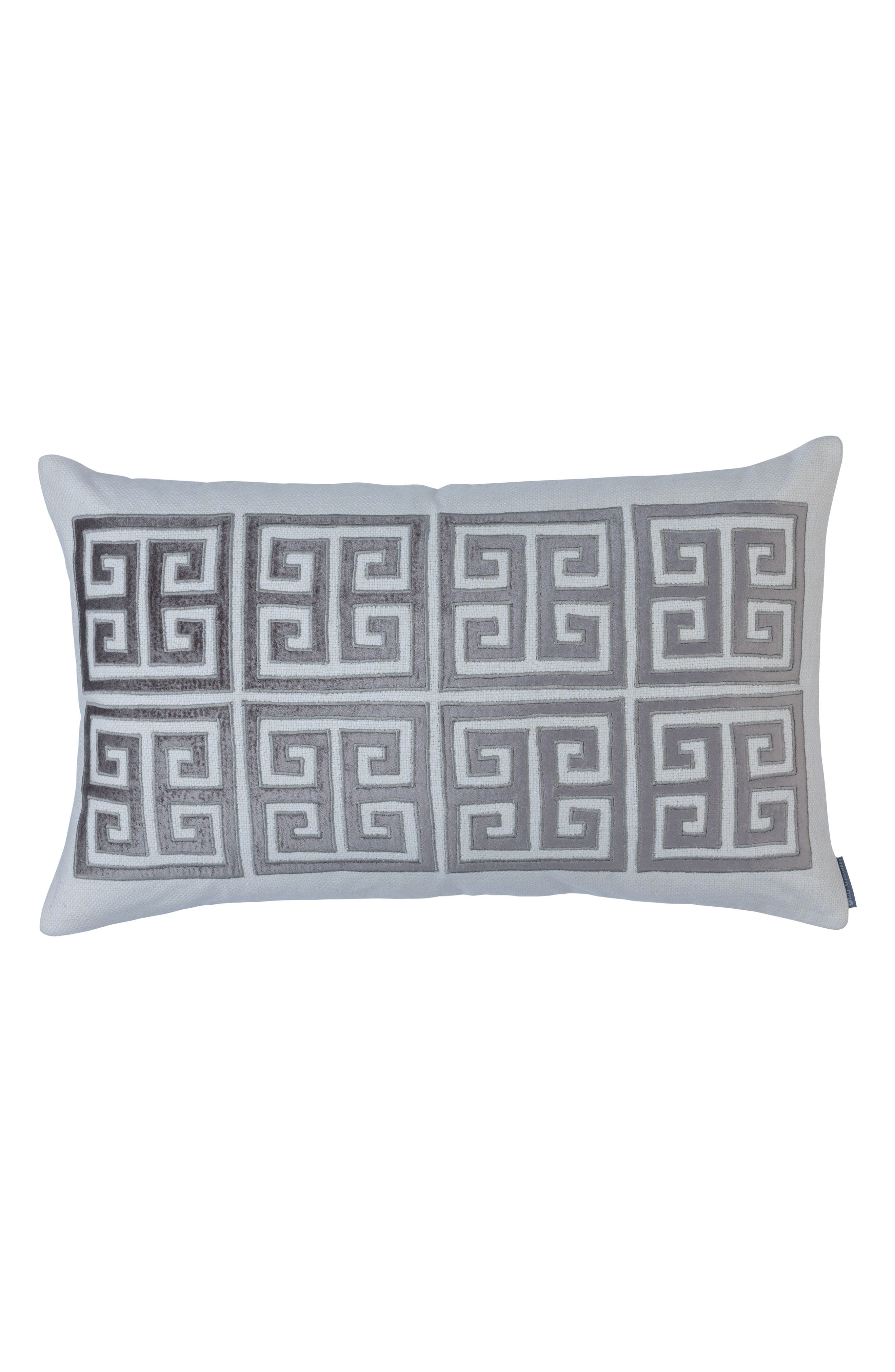 Guy Velvet Basket Weave Large Accent Pillow,                         Main,                         color, GRAY
