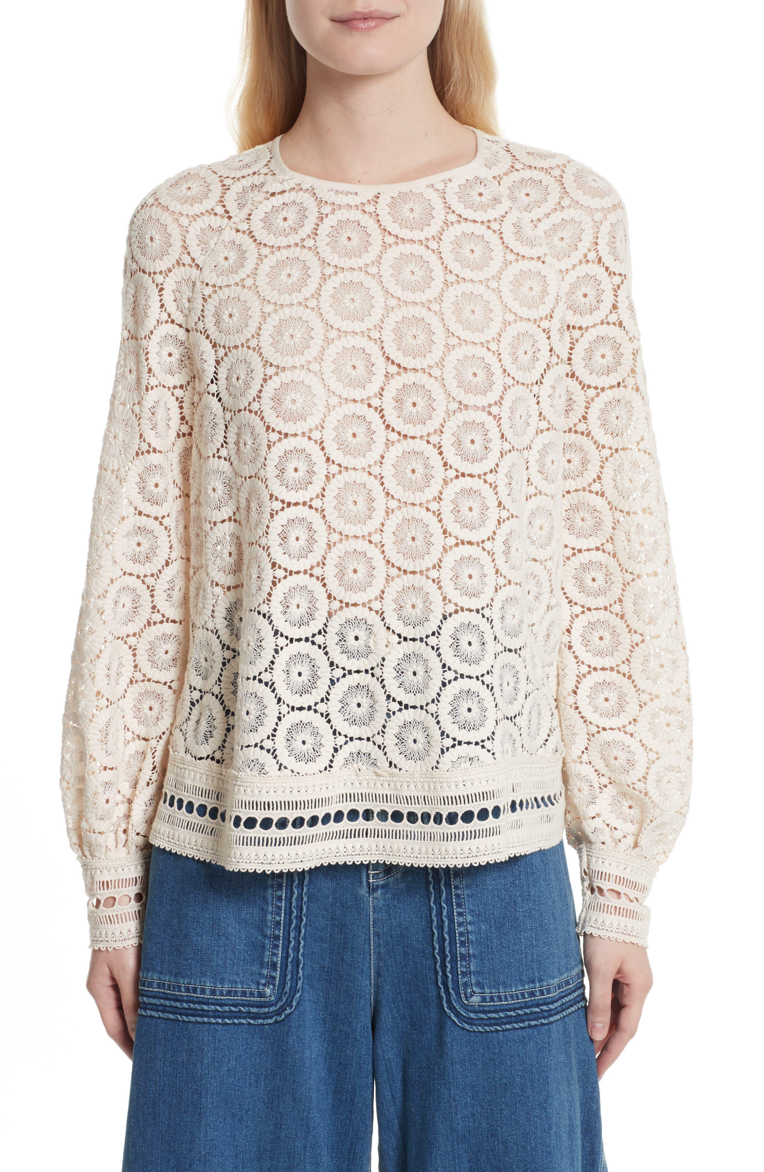 Lace Top,                         Main,                         color, 101