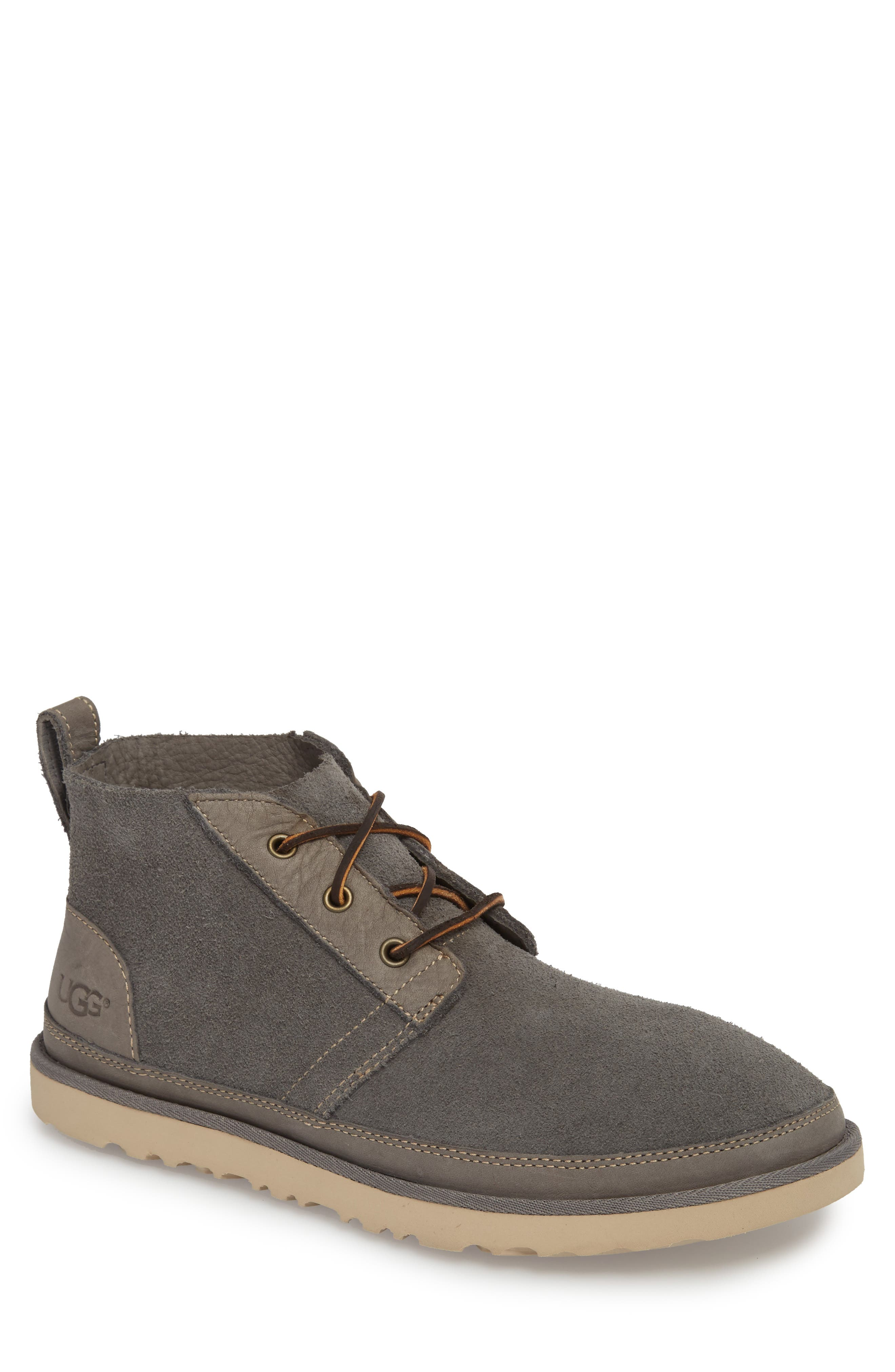 Neumel Unlined Chukka Boot,                         Main,                         color, CHARCOAL LEATHER