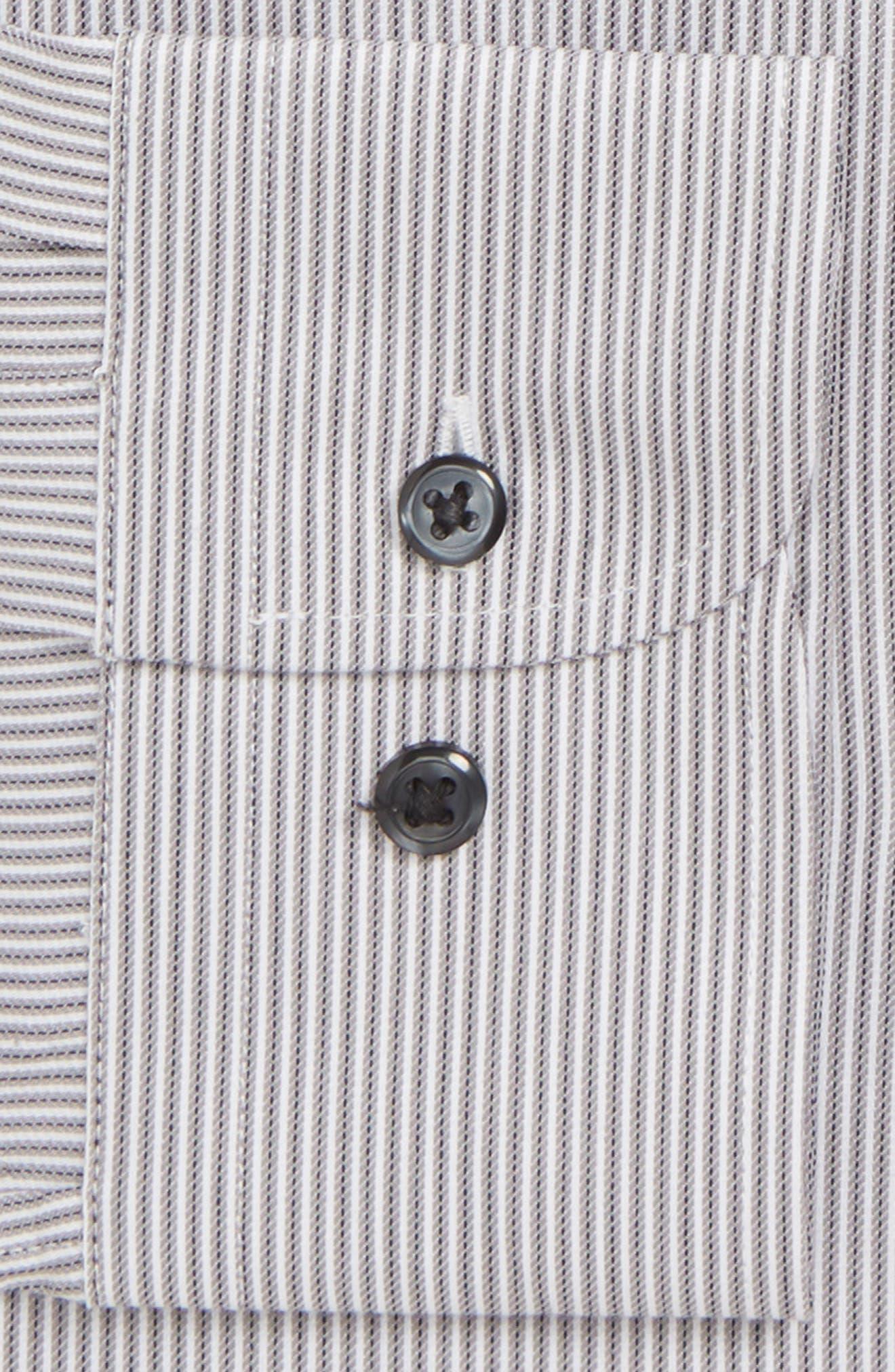 Tech-Smart Trim Fit Stretch Stripe Dress Shirt,                             Alternate thumbnail 2, color,                             GREY ONYX