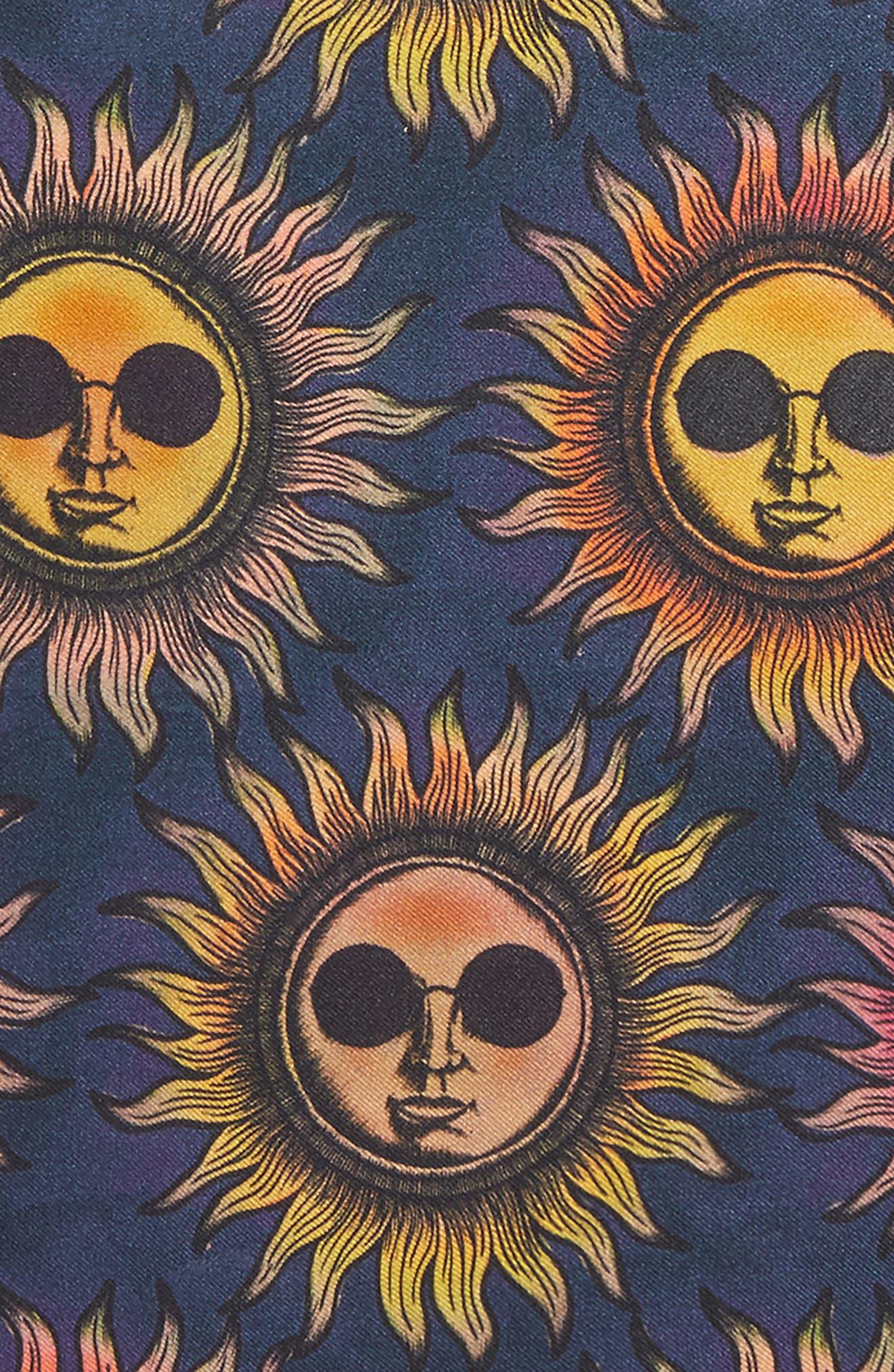 Sun Print Silk Pocket Square,                             Alternate thumbnail 3, color,                             415
