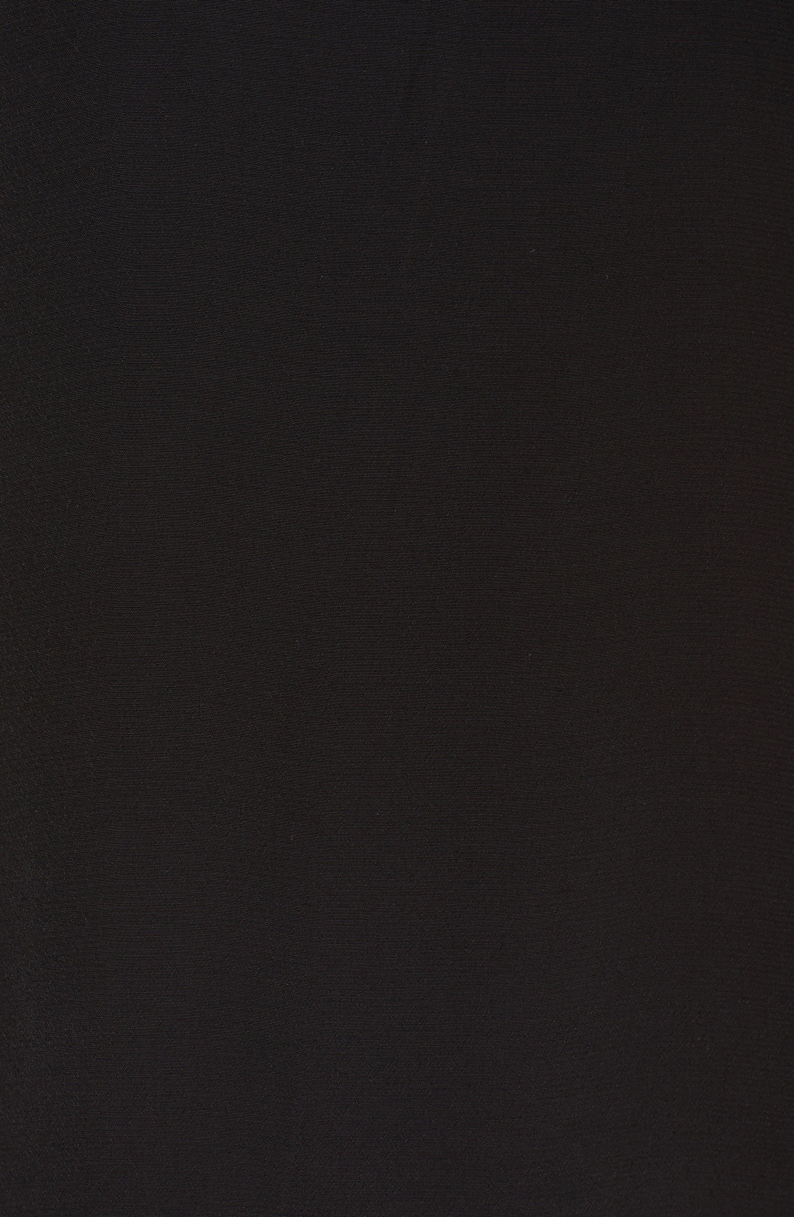 Tie Cold Shoulder Midi Dress,                             Alternate thumbnail 5, color,                             001