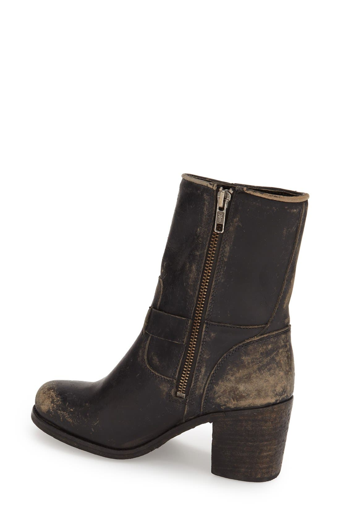 'Kelly' Belted Short Boot,                             Alternate thumbnail 4, color,                             001