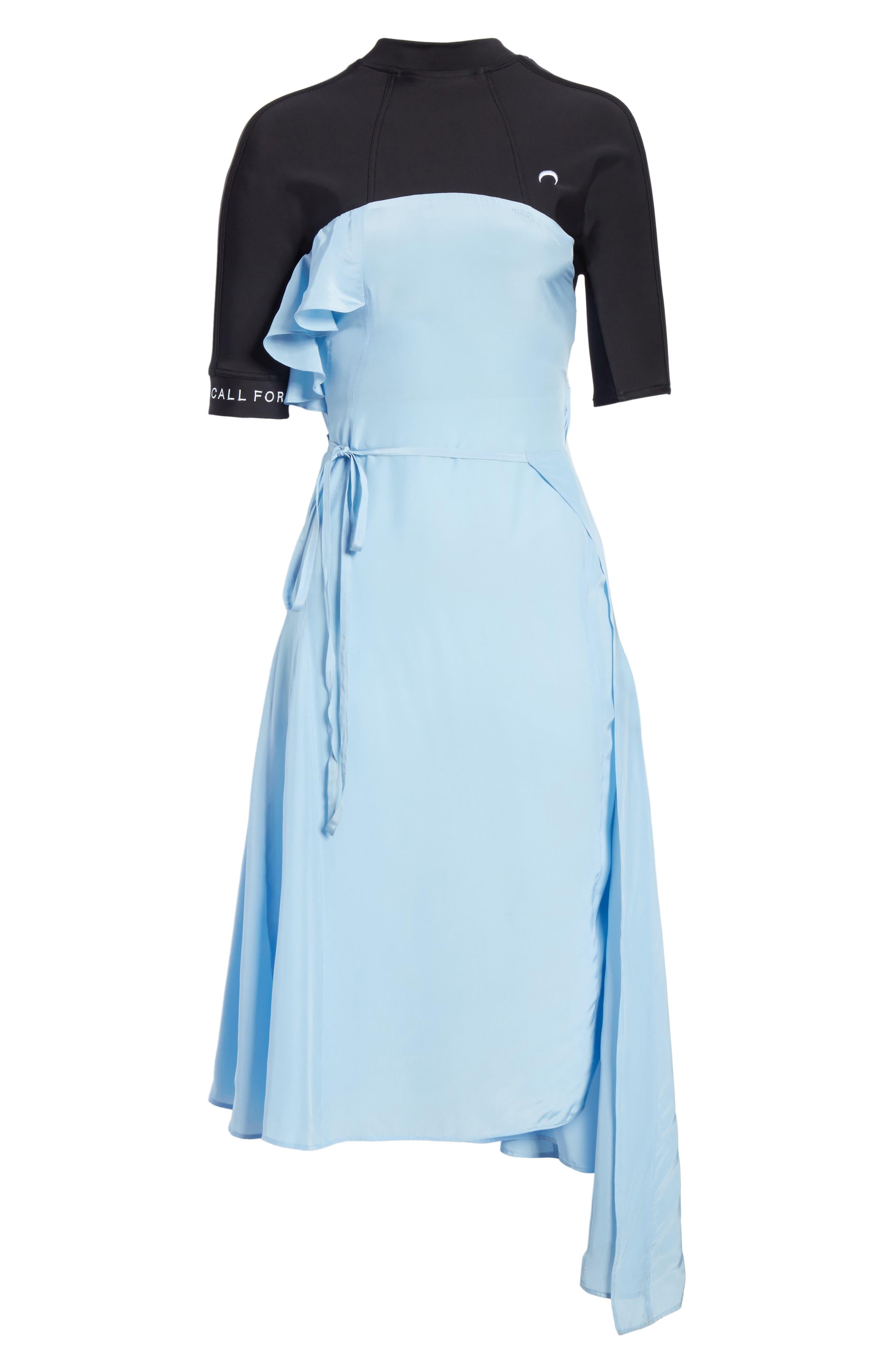 Hybrid Wrap Dress,                             Alternate thumbnail 6, color,                             400