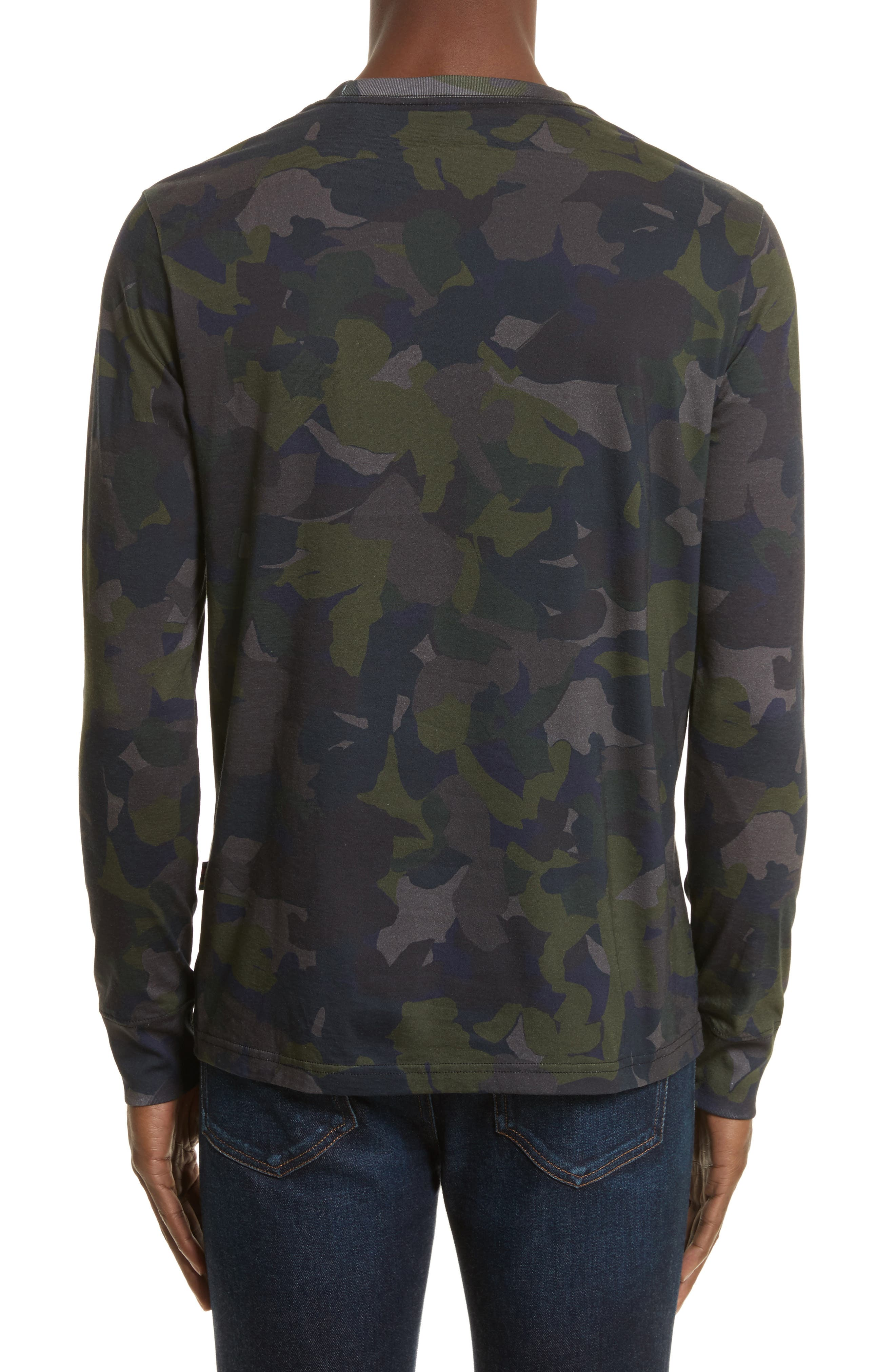 Camo Long Sleeve T-Shirt,                             Alternate thumbnail 2, color,                             410