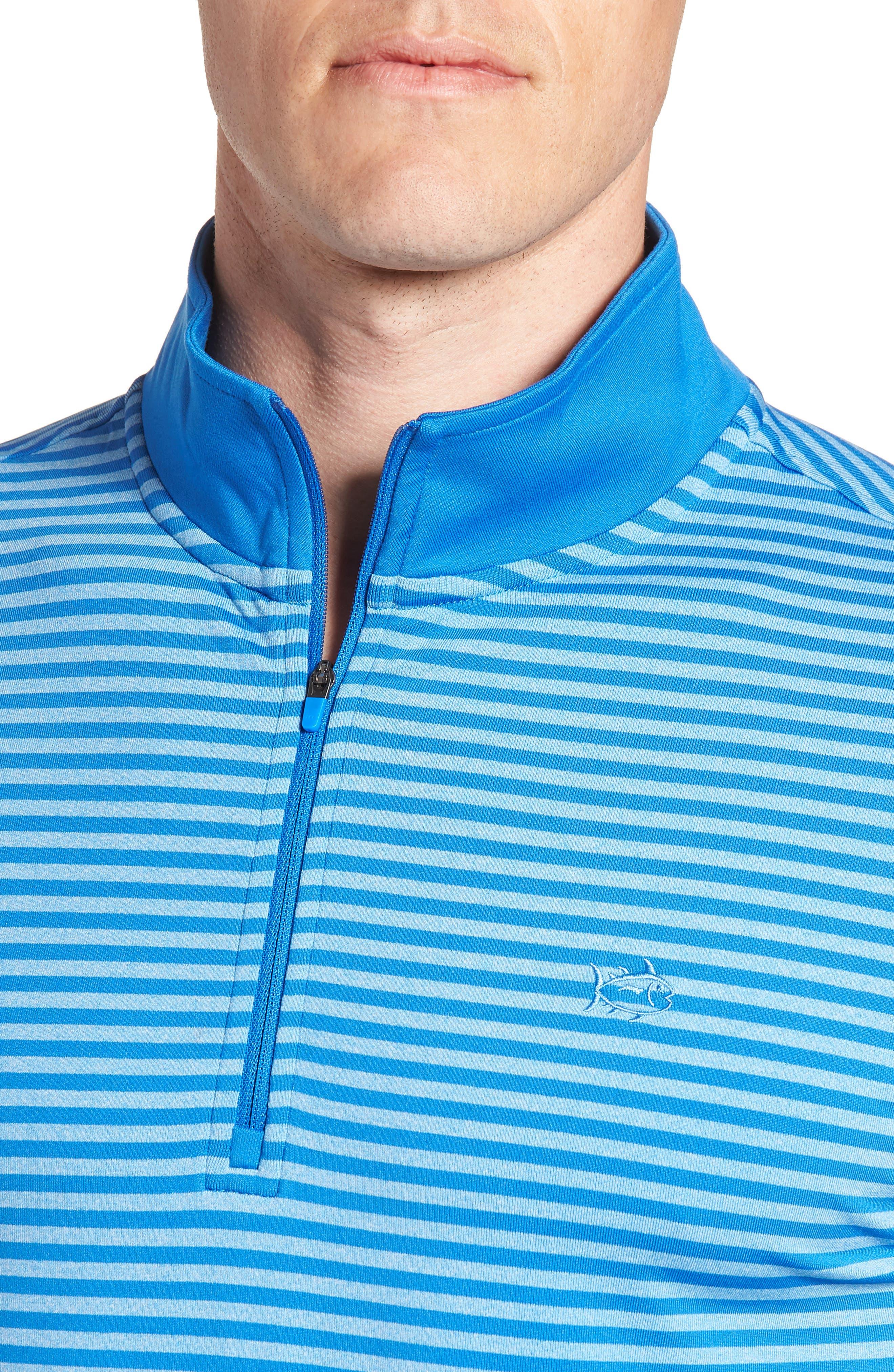 SOUTHERN TIDE,                             Stripe Quarter Zip Pullover,                             Alternate thumbnail 4, color,                             400
