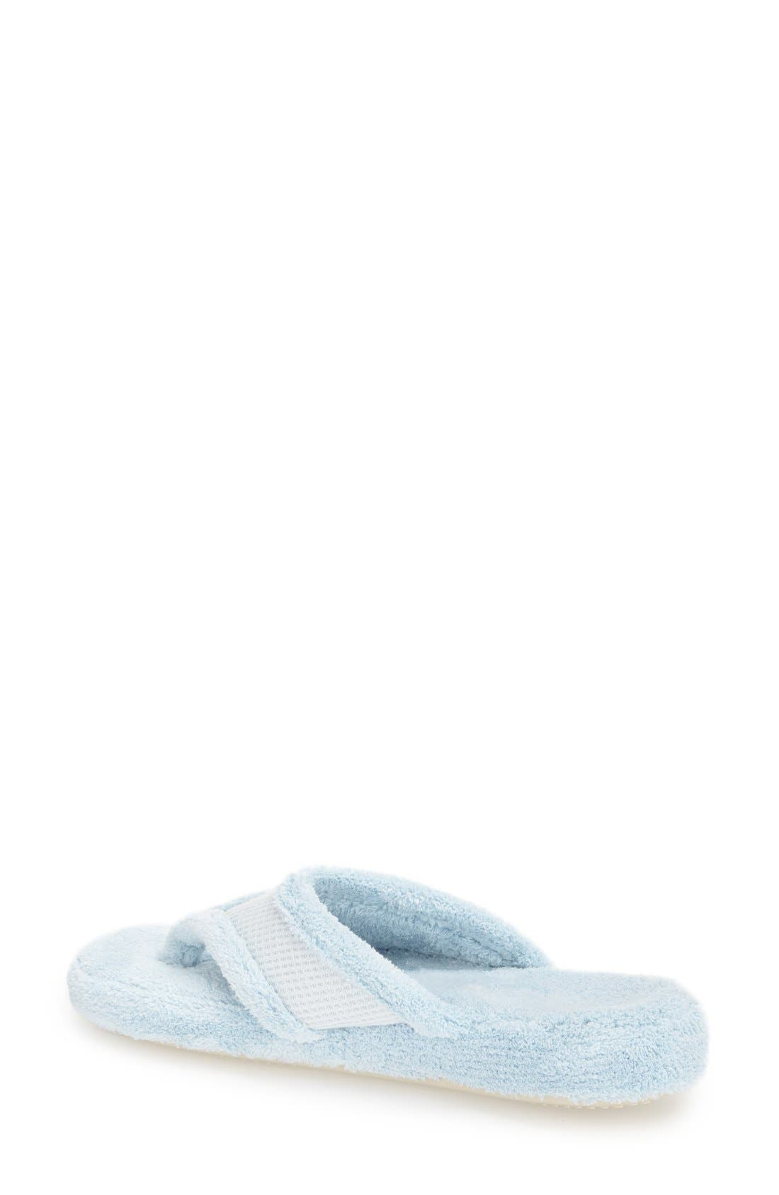 'Waffle' Spa Slipper,                             Alternate thumbnail 2, color,                             POWDER BLUE