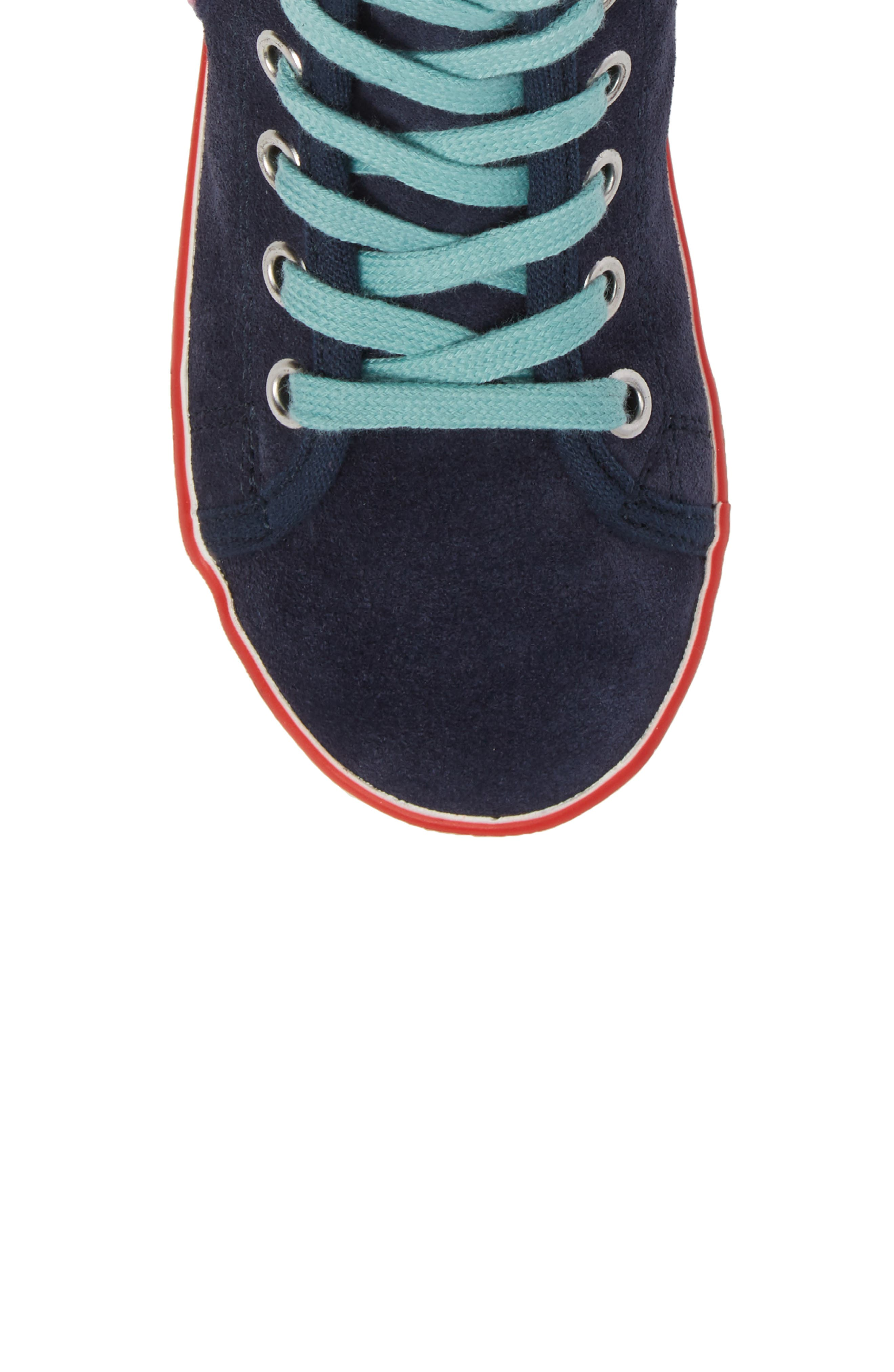 Embellished High Top Sneaker,                             Alternate thumbnail 5, color,                             414