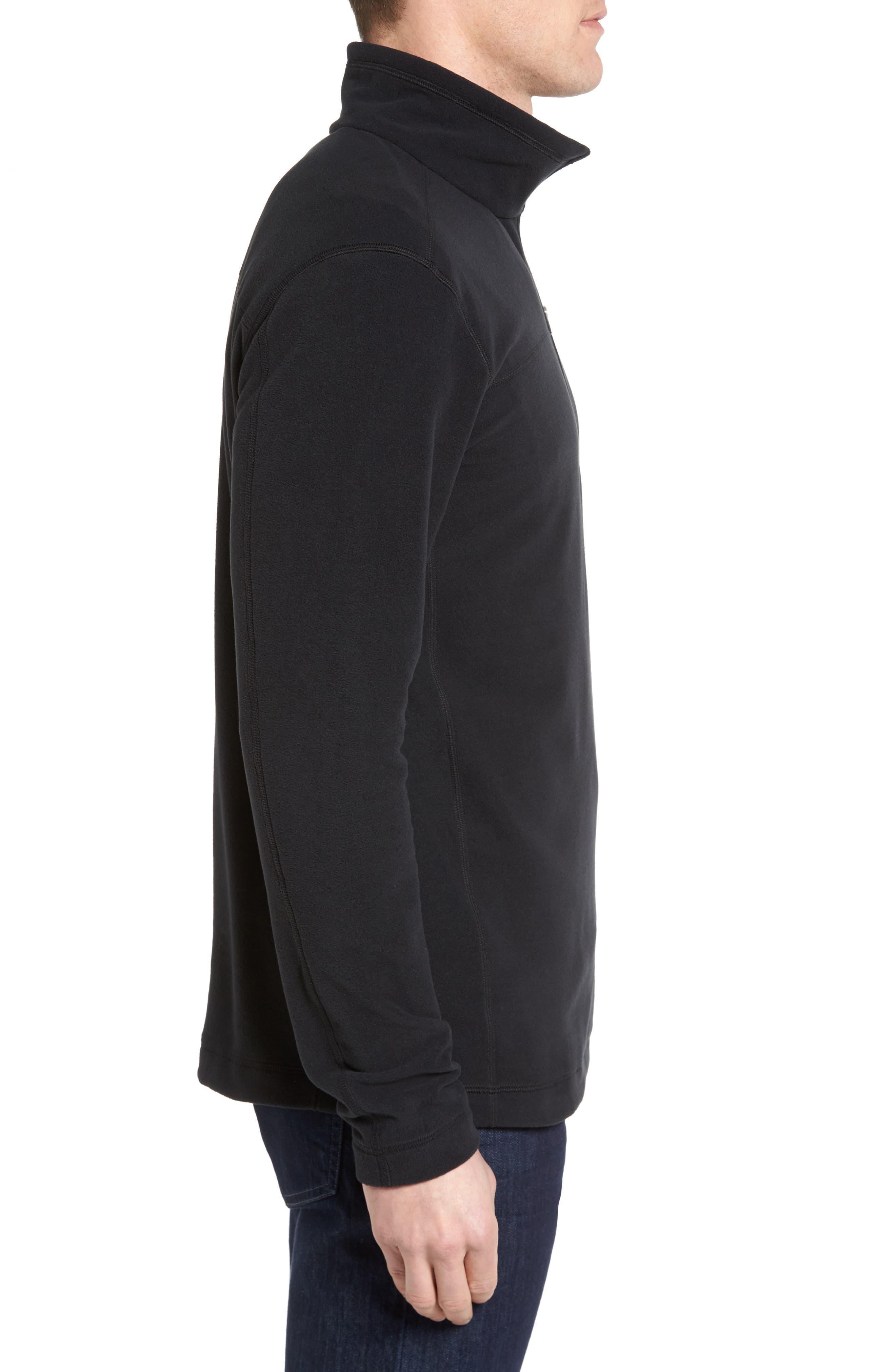 Fleece Pullover,                             Alternate thumbnail 3, color,                             BLACK
