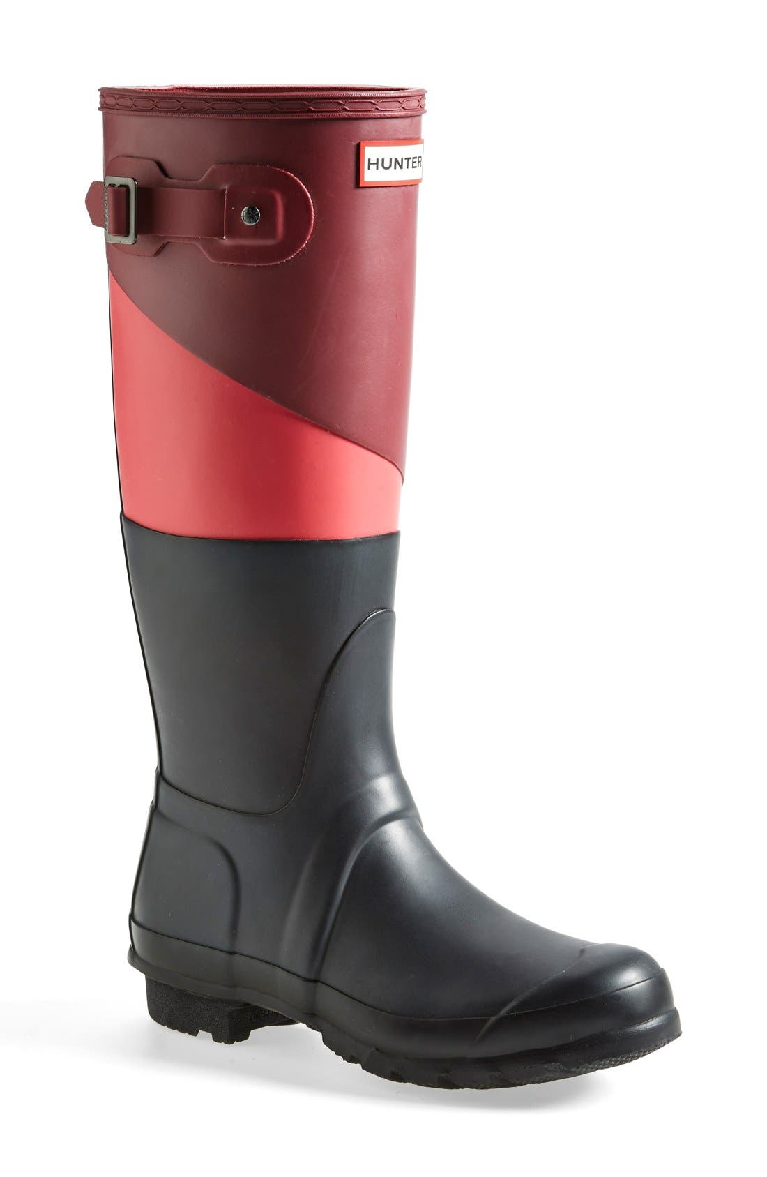 'Original - Asymmetric Colorblock' Waterproof Rain Boot,                             Main thumbnail 2, color,