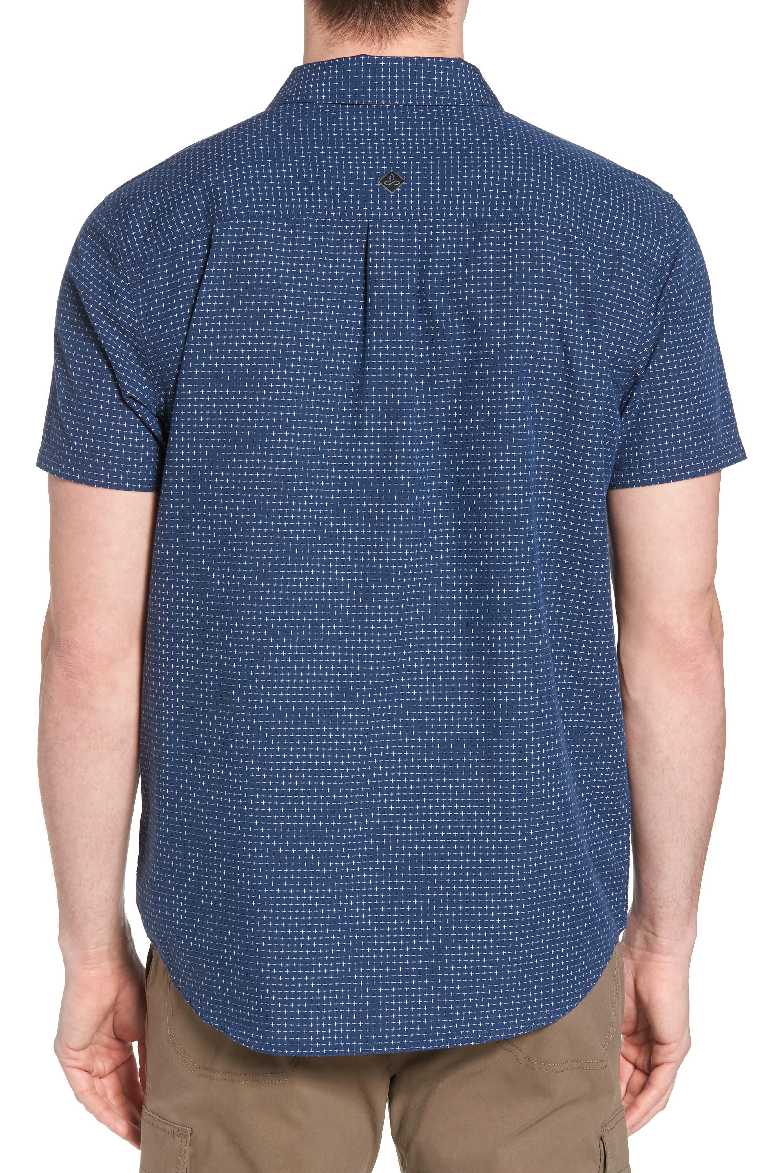 Blakely Slim Fit Short Sleeve Sport Shirt,                             Alternate thumbnail 4, color,