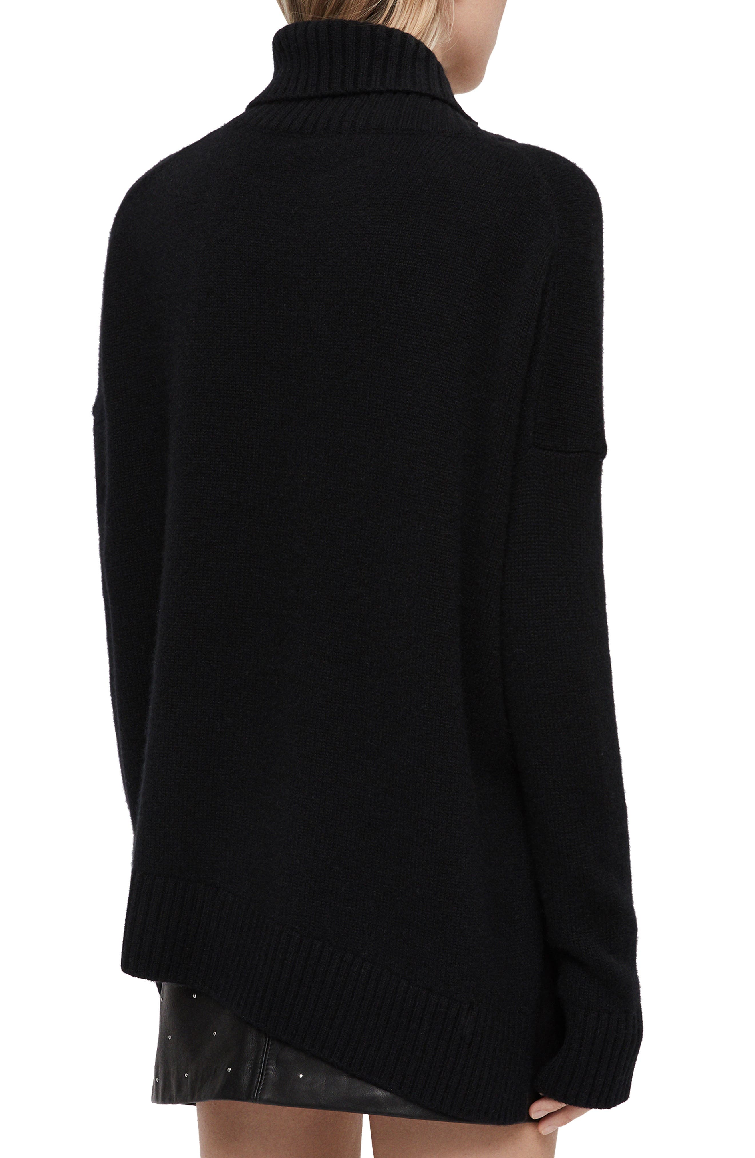 Witby Roll Neck Cashmere Sweater,                             Alternate thumbnail 2, color,                             BLACK