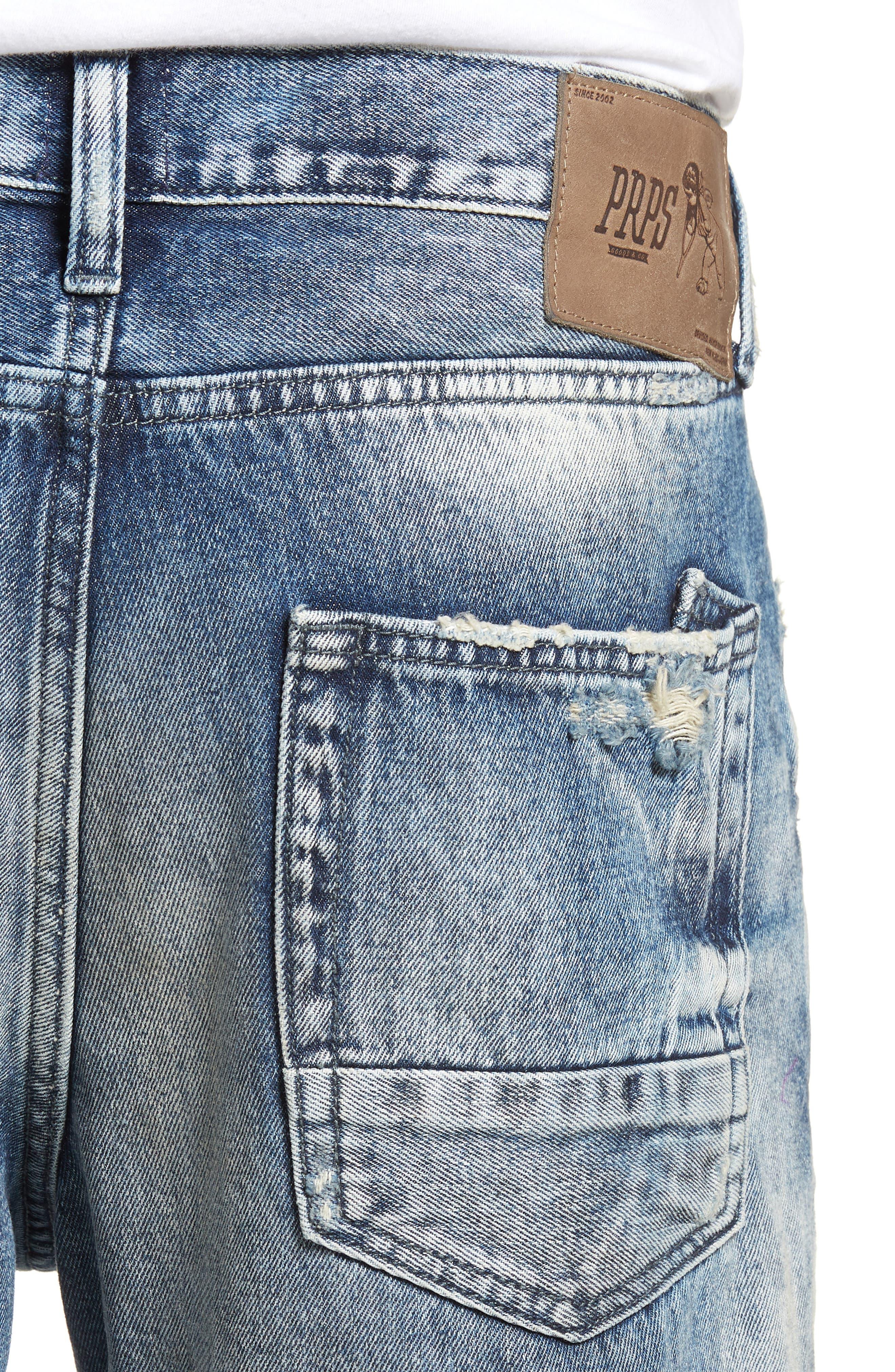Demon Slim Straight Leg Jeans,                             Alternate thumbnail 4, color,                             MEXICO