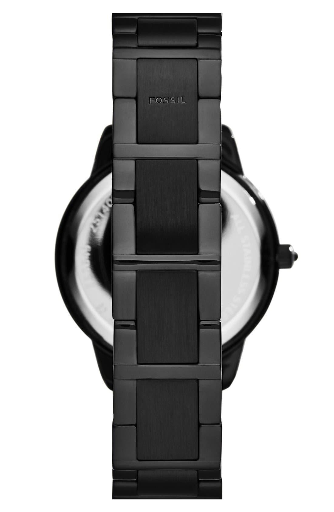FOSSIL,                             'Jesse' Crystal Embellished Bracelet Watch, 34mm,                             Alternate thumbnail 2, color,                             001