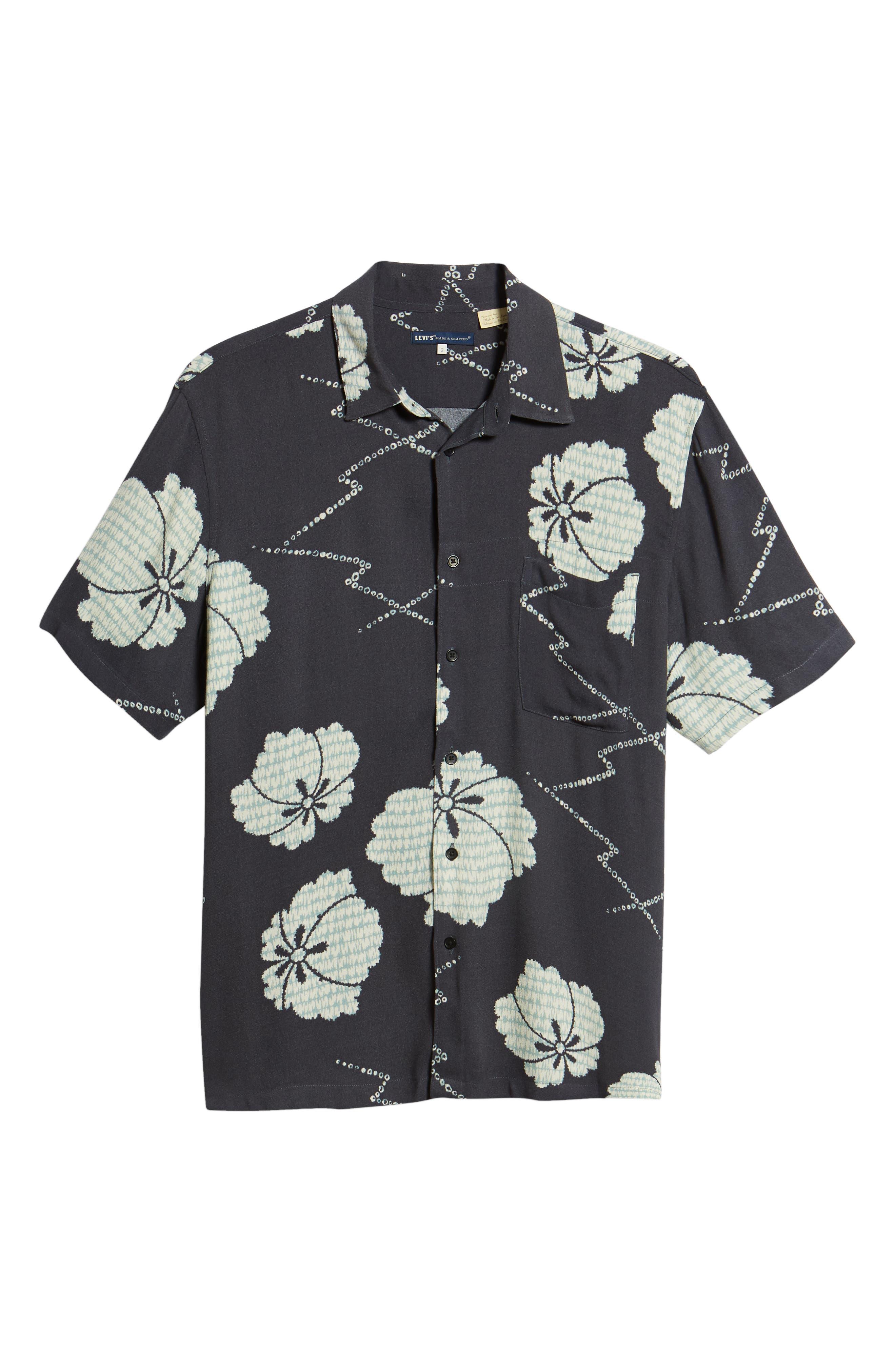 Oversize Safari Woven Shirt,                             Alternate thumbnail 6, color,                             001