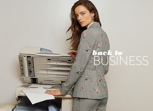Back to business: women's work clothing, shoes, handbags and accessories.