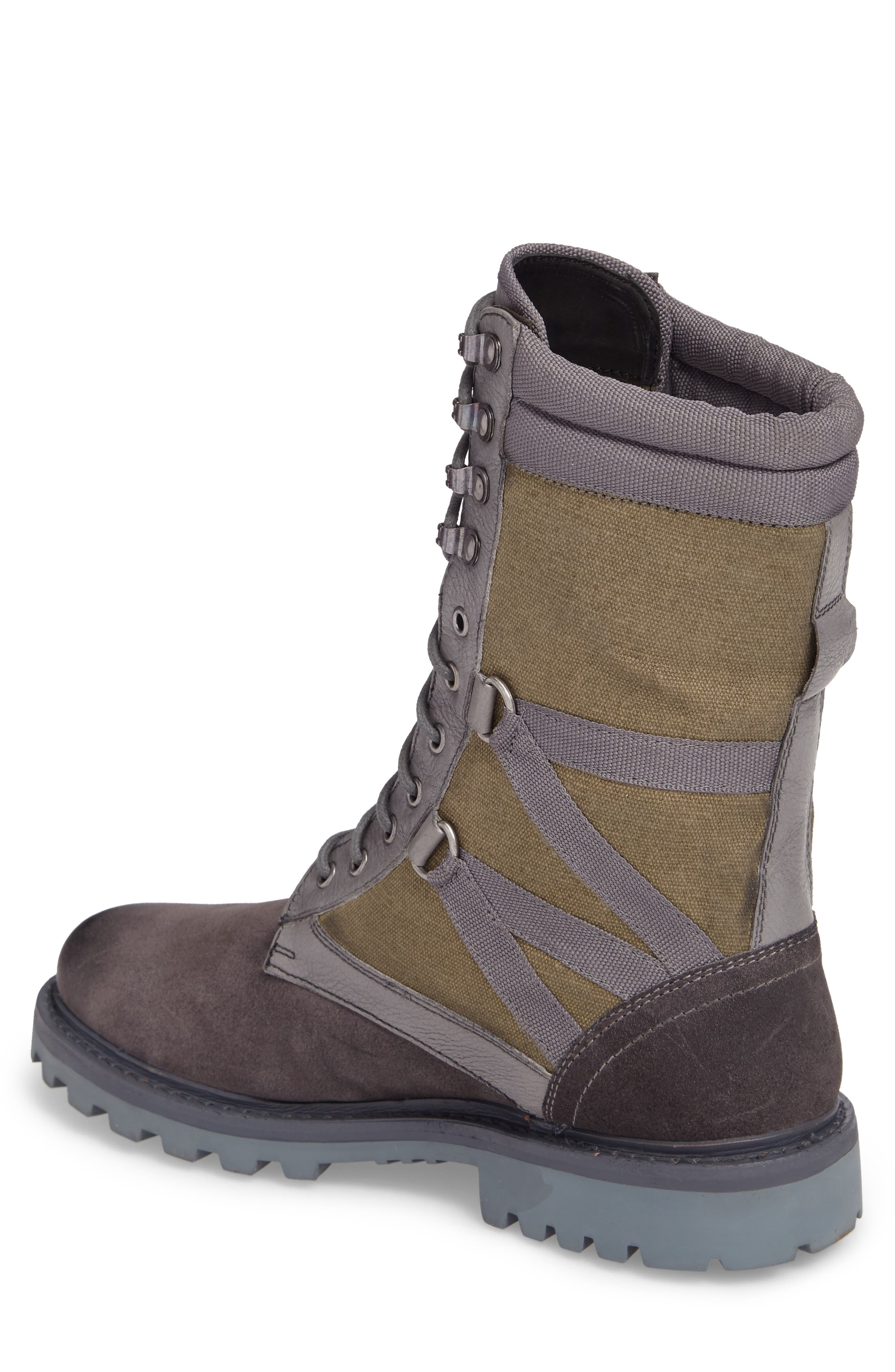 Combat Ultra Force Boot,                             Alternate thumbnail 2, color,                             GREY SUEDE