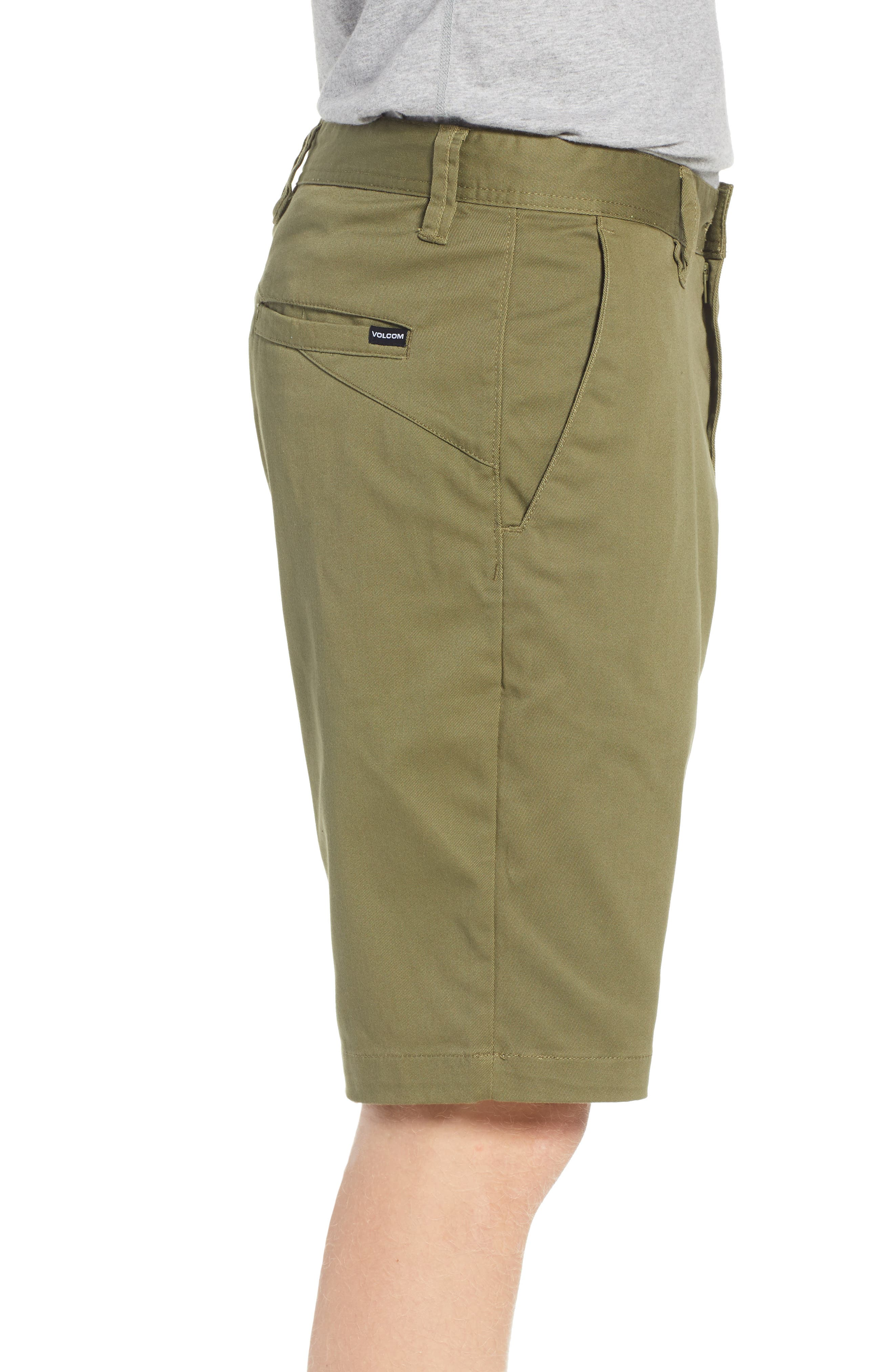 'Modern' Stretch Chino Shorts,                             Alternate thumbnail 3, color,                             VINE GREEN