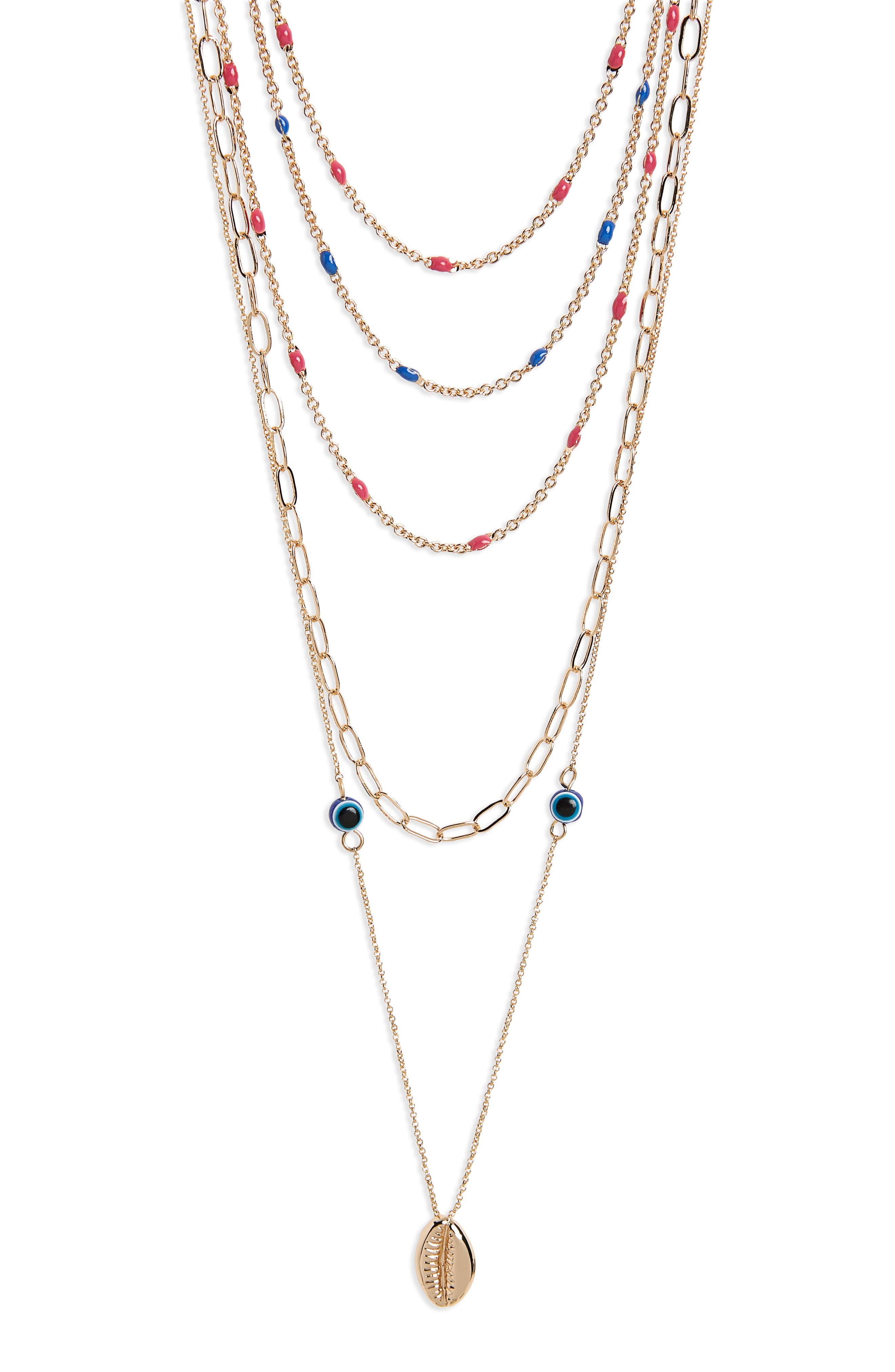 Beachy Layered Chains Necklace,                             Alternate thumbnail 2, color,