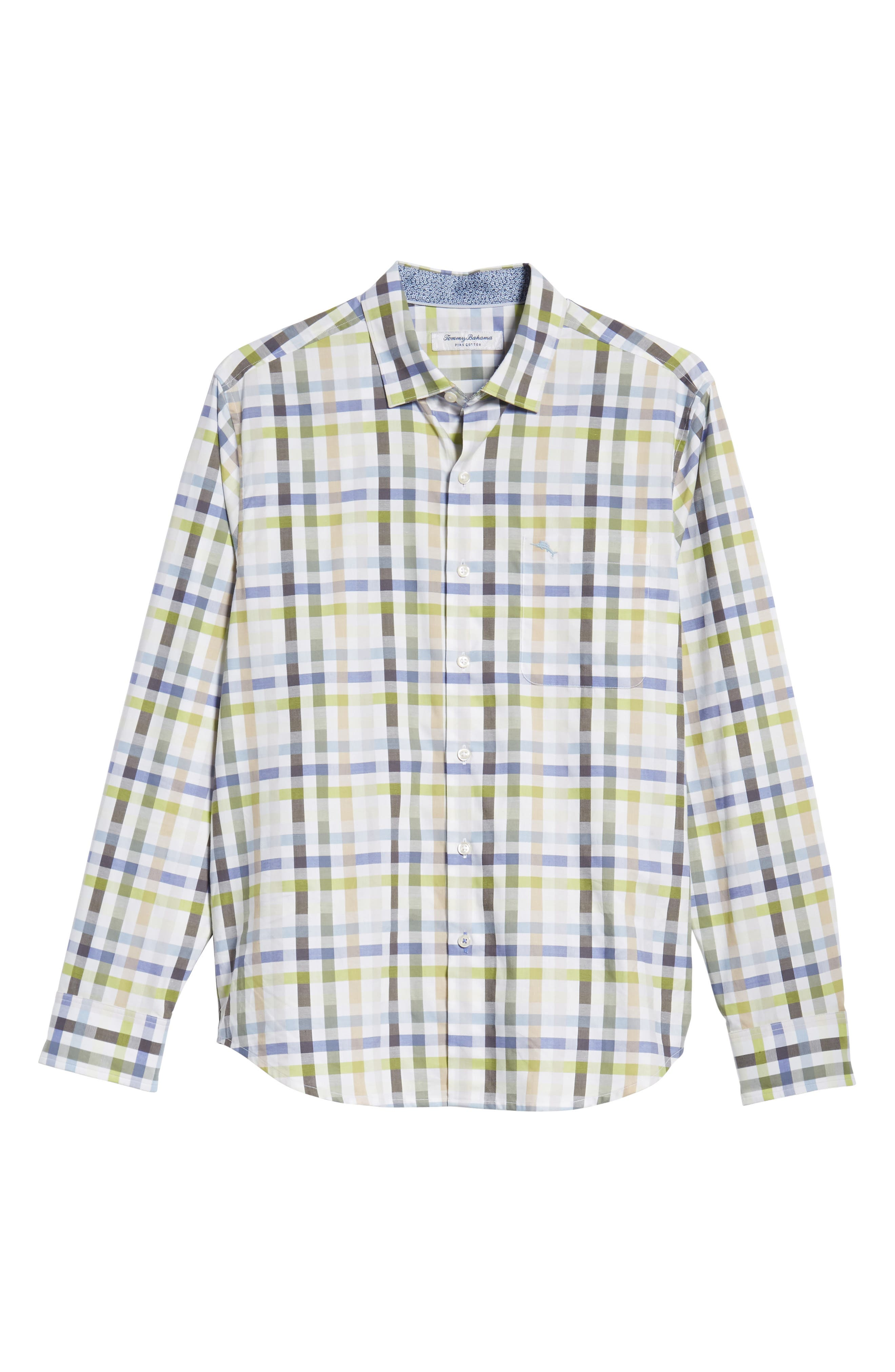 Matina Check Sport Shirt,                             Alternate thumbnail 6, color,                             NEW BLUE OPAL