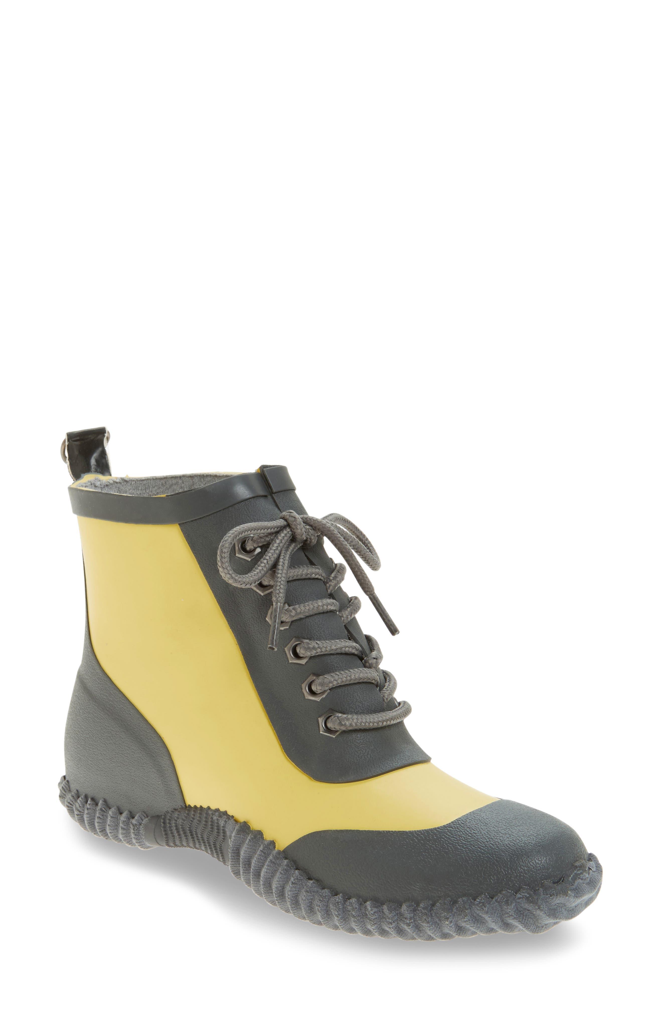 Dav Telluride Waterproof Rain Boot, Yellow