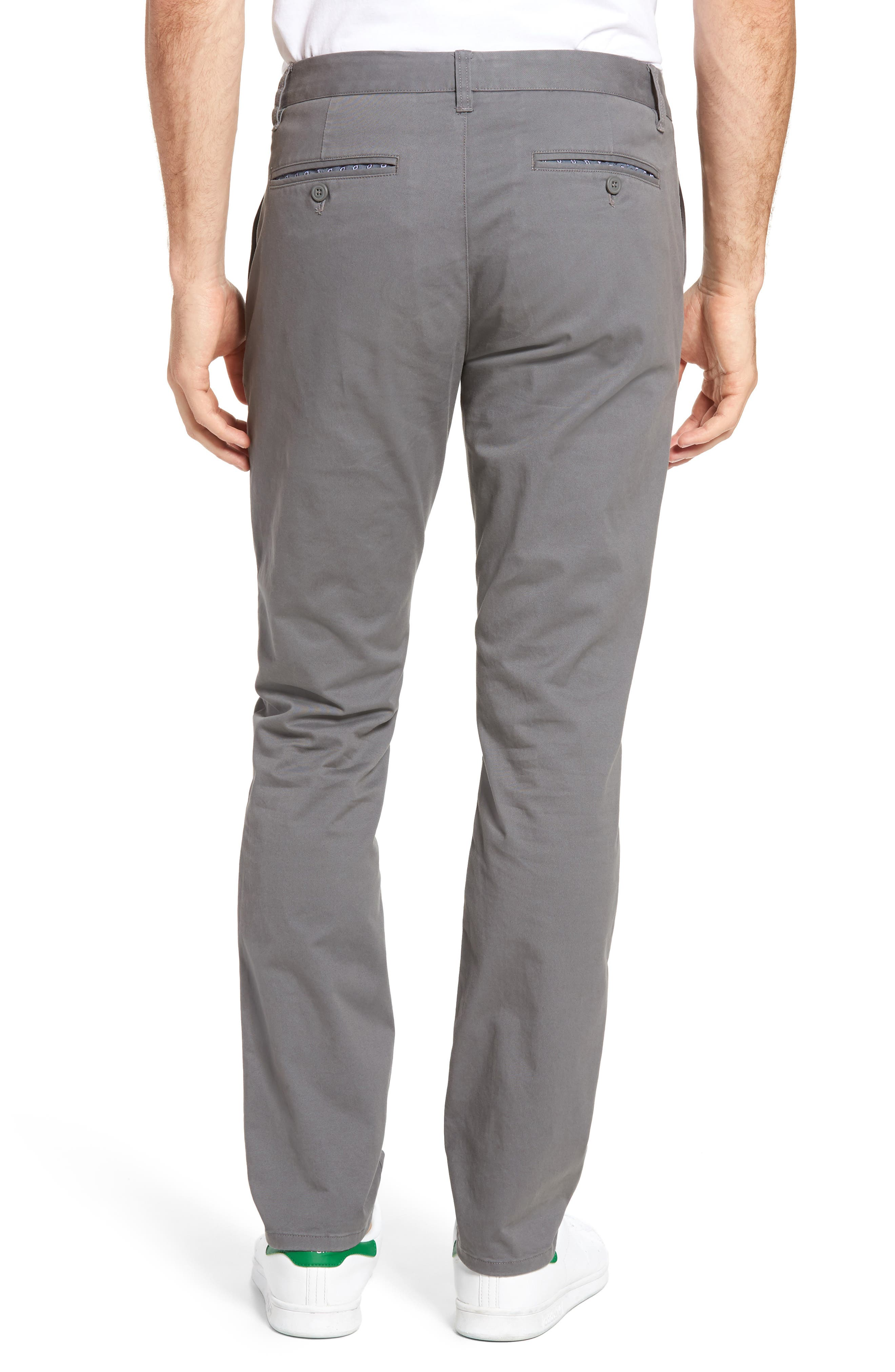 Tailored Fit Washed Stretch Cotton Chinos,                             Alternate thumbnail 60, color,