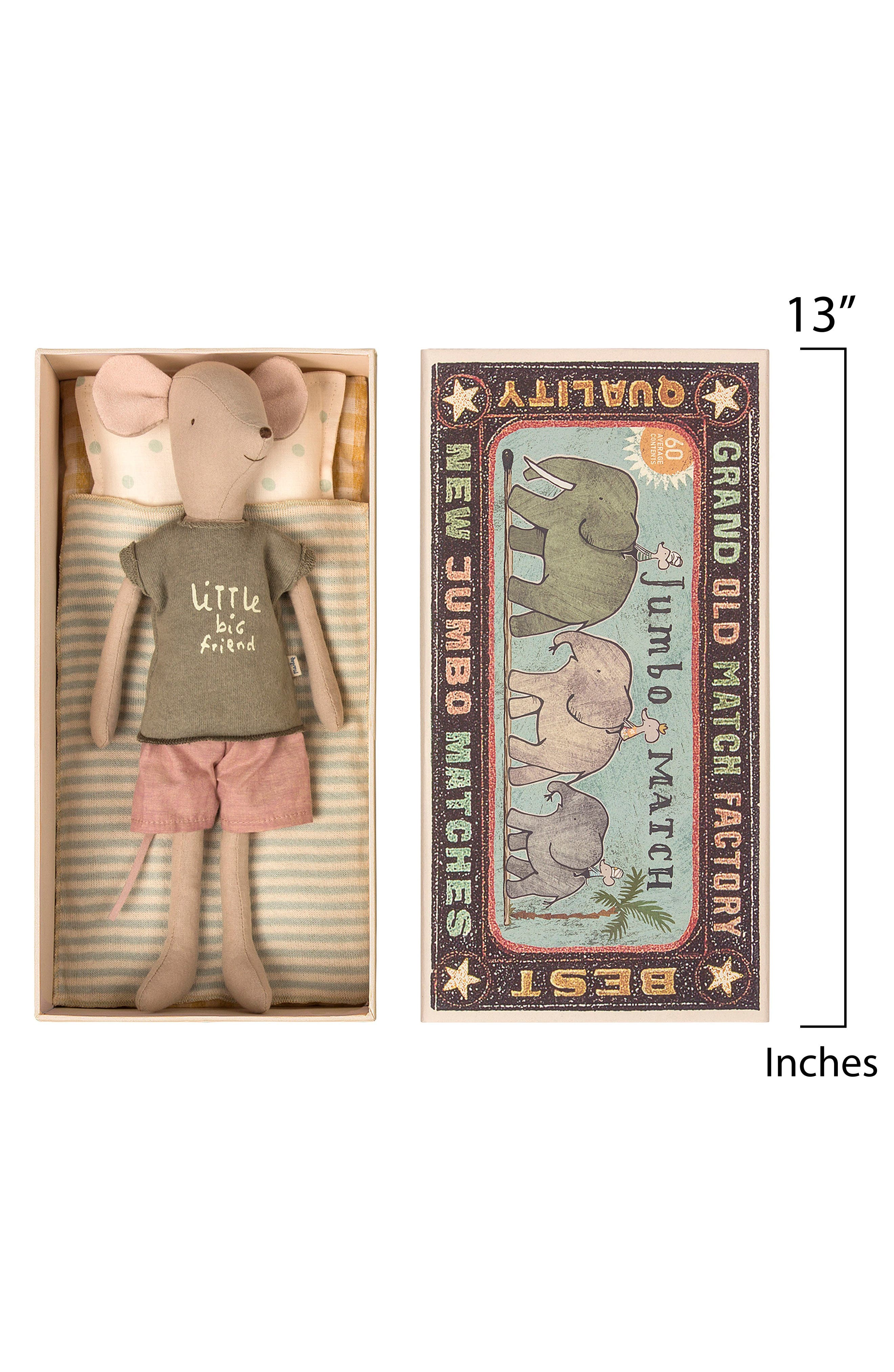 Boy Mouse in a Box Stuffed Animal,                             Alternate thumbnail 2, color,                             MULTI COLOR