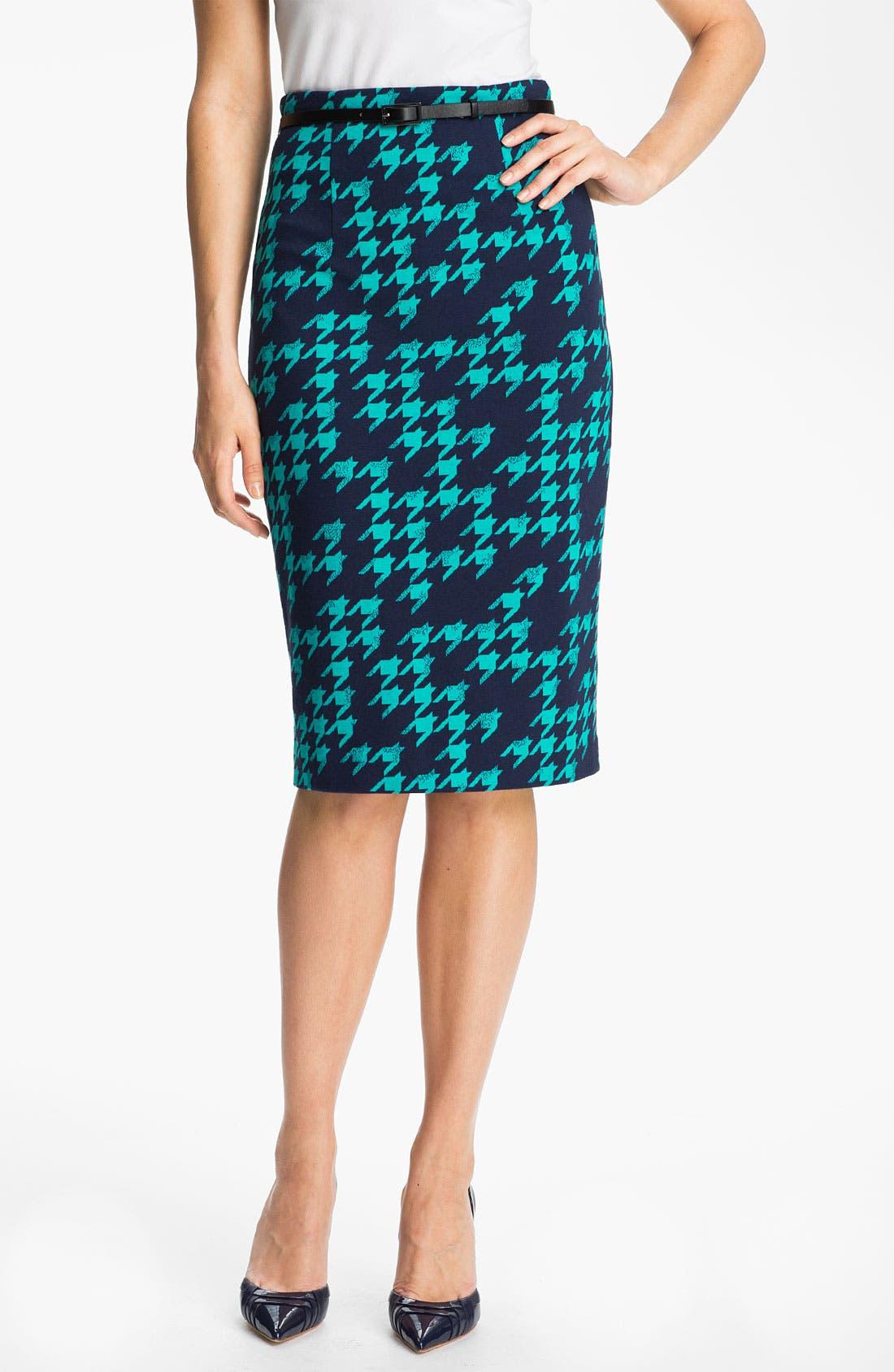 Belted Ponte Skirt,                             Main thumbnail 9, color,
