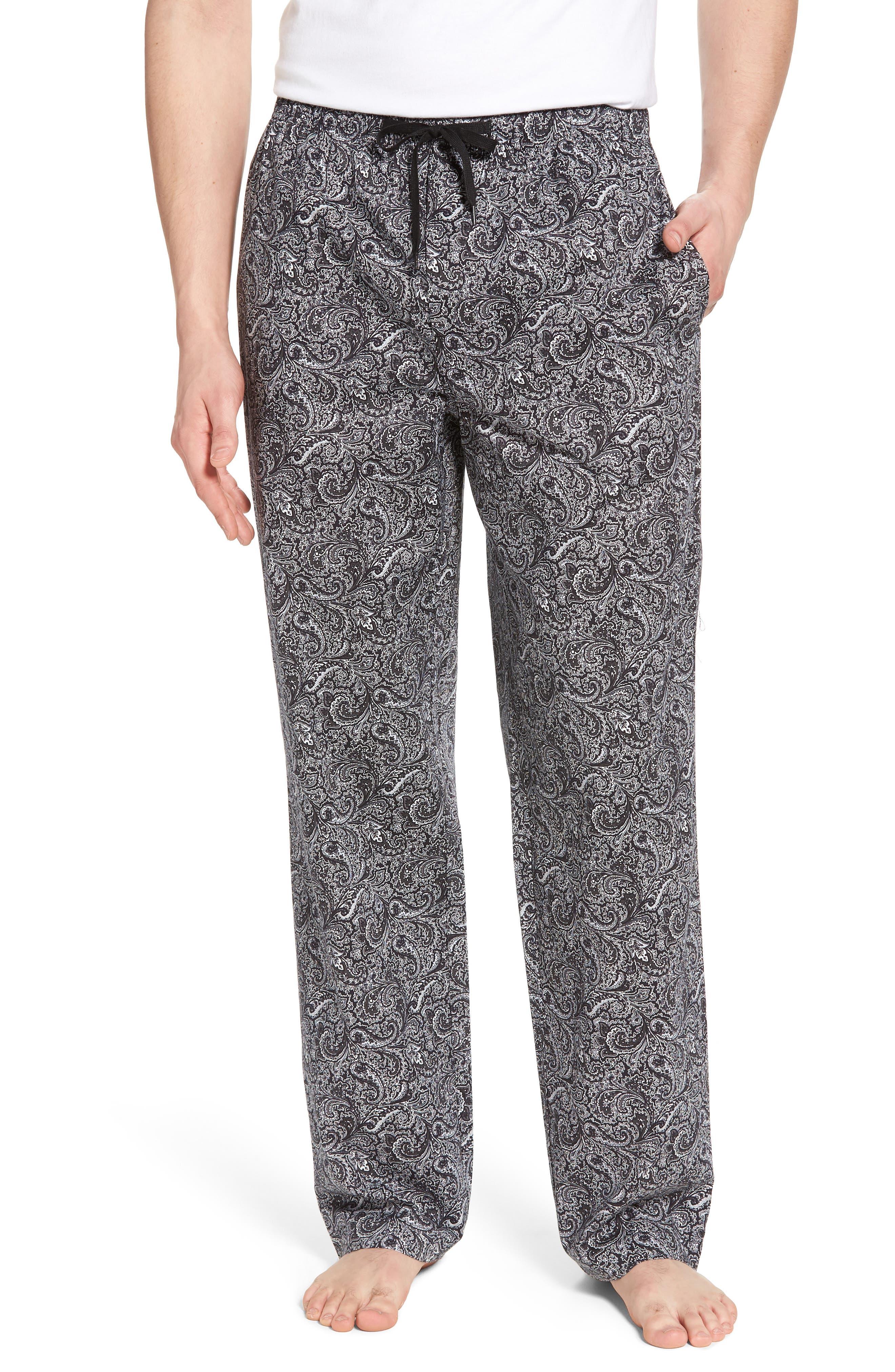 Starling Lounge Pants,                             Main thumbnail 1, color,                             BLACK PAISLEY