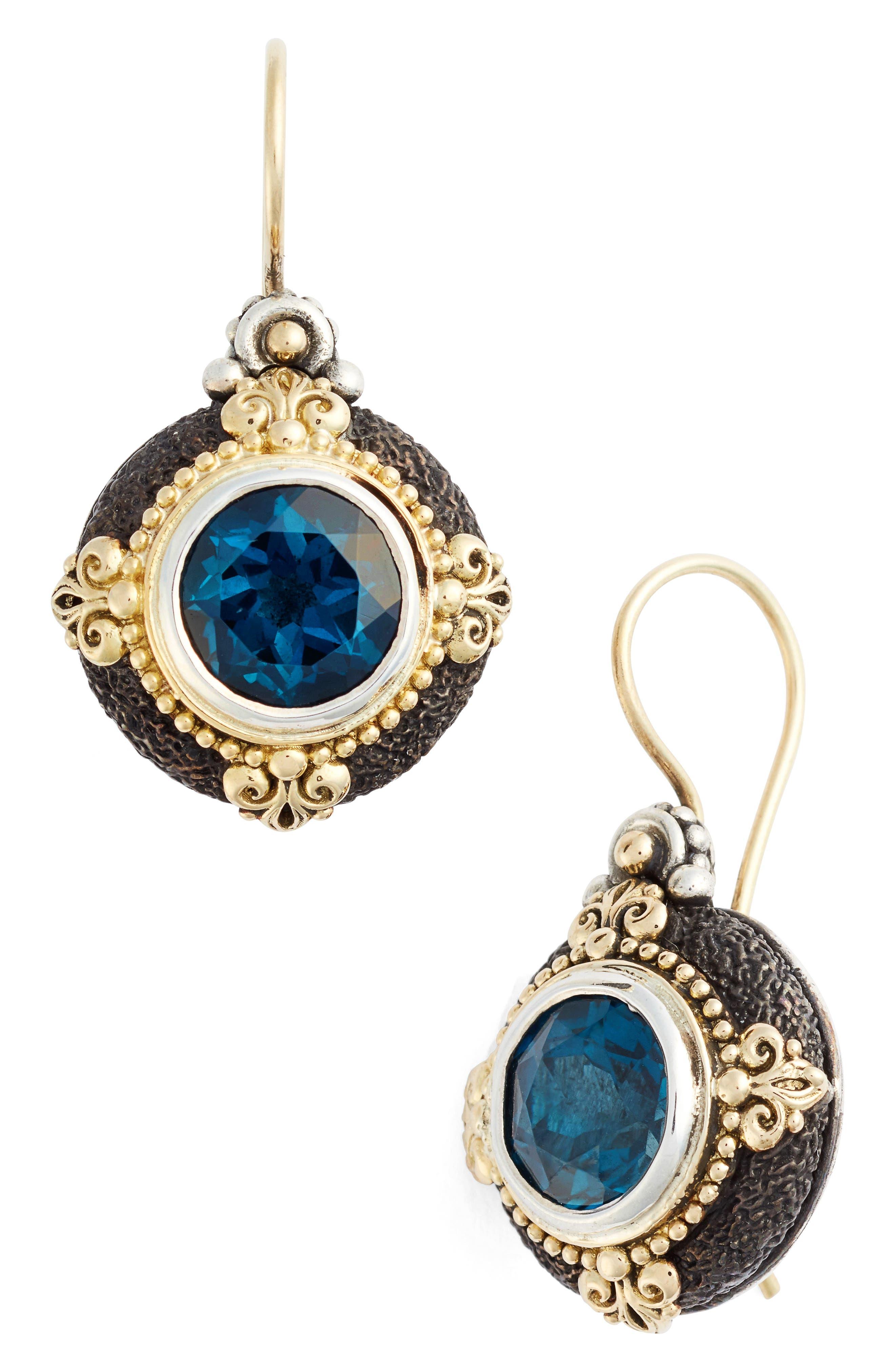 Nemesis Drop Earrings,                         Main,                         color, LONDON BLUE TOPAZ