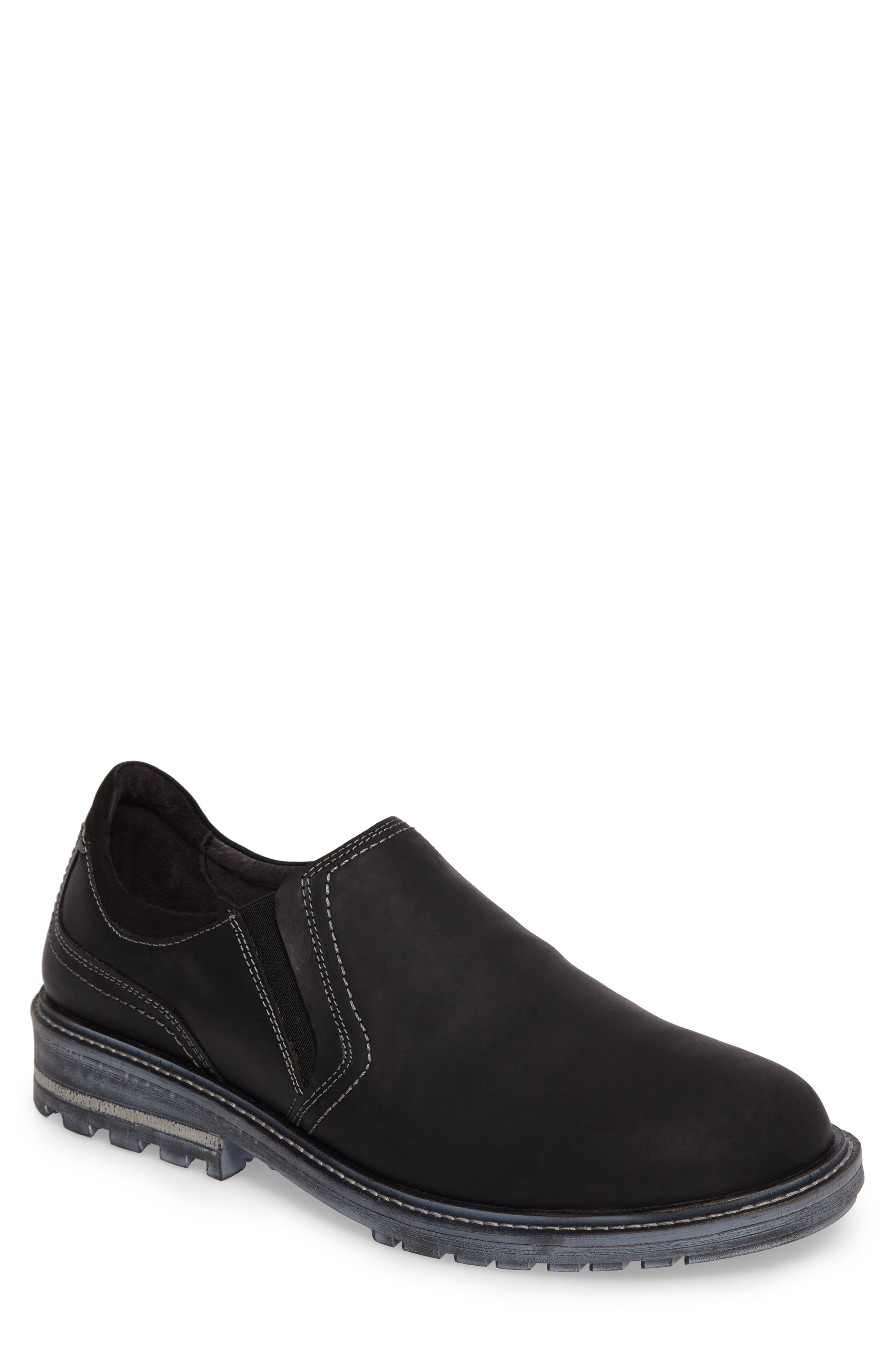 Manyara Slip-On Loafer,                         Main,                         color, COAL LEATHER
