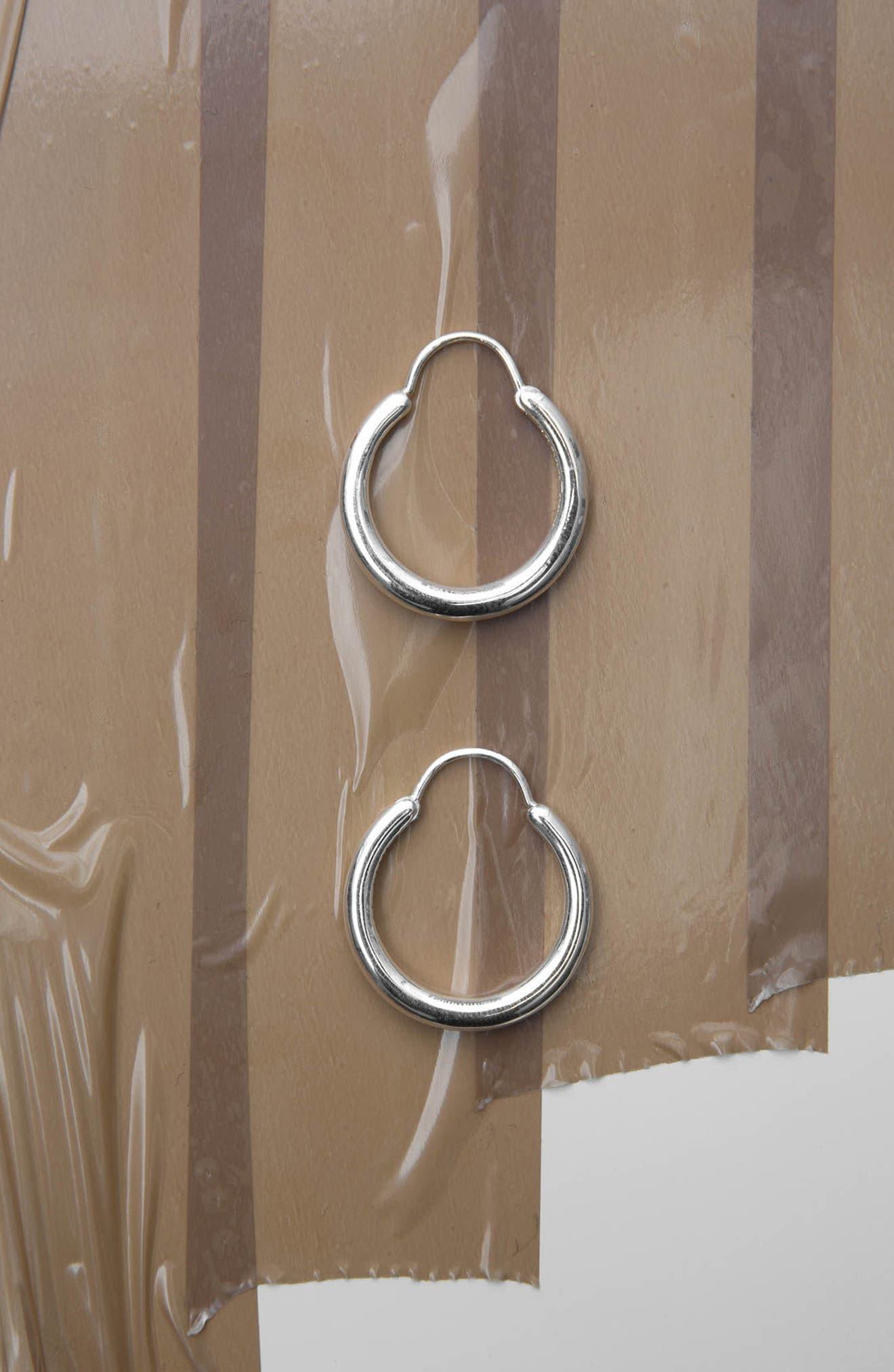 Snake Polished Silver Earrings,                             Alternate thumbnail 4, color,                             040
