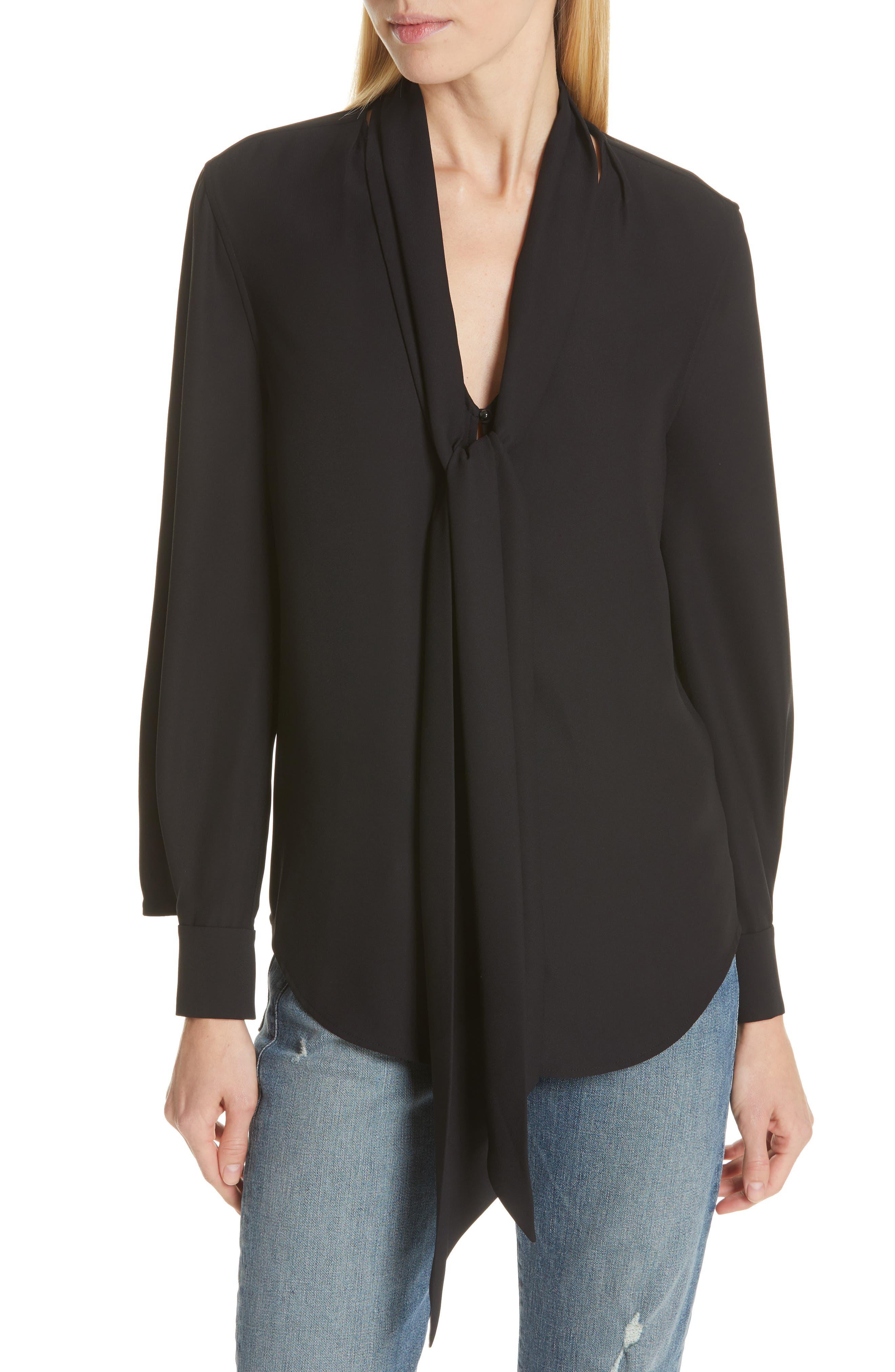 Haty Button Front Shirt, Main, color, TRUE BLACK