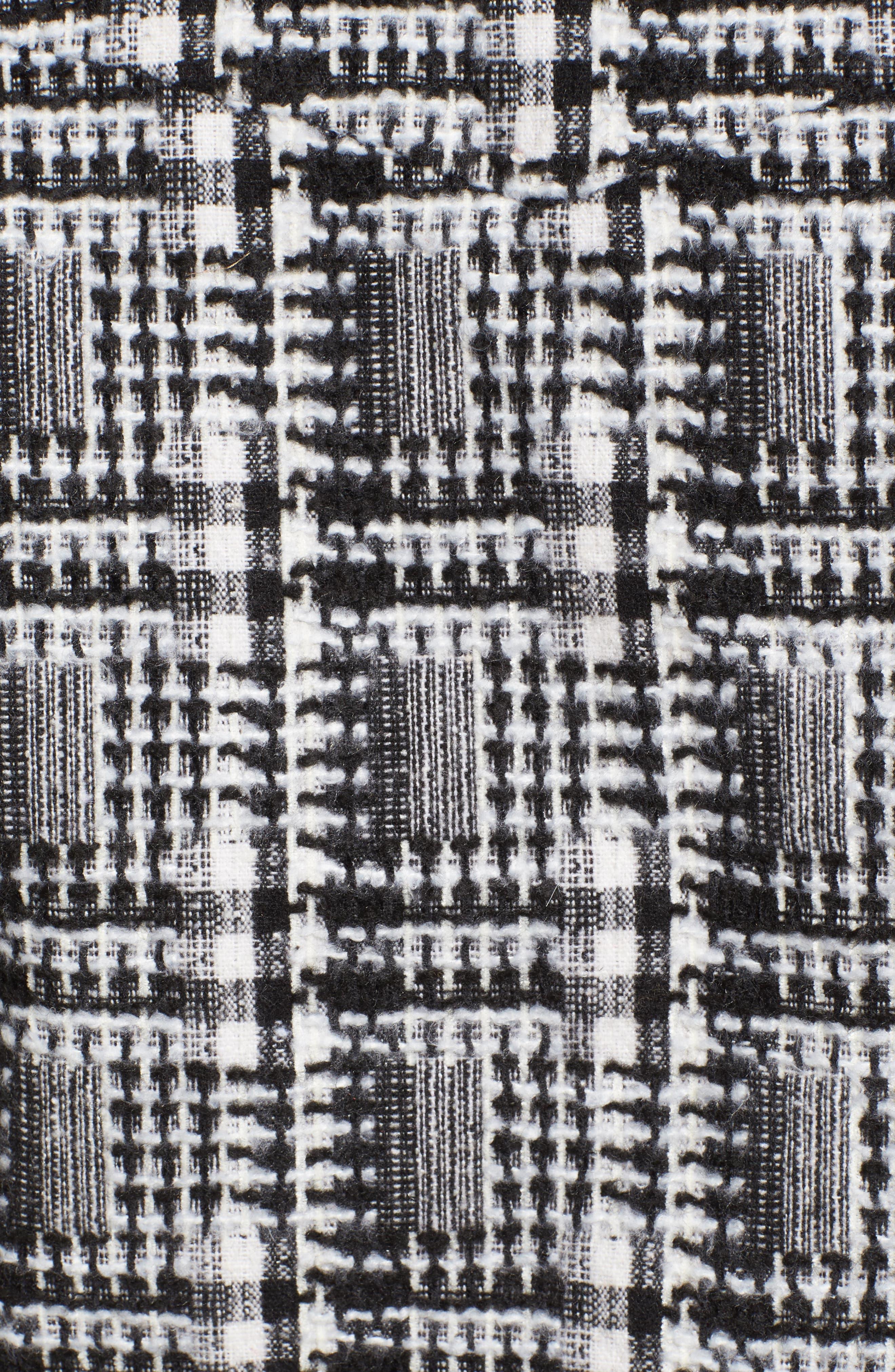 Tweed Moto Jacket,                             Alternate thumbnail 6, color,                             002