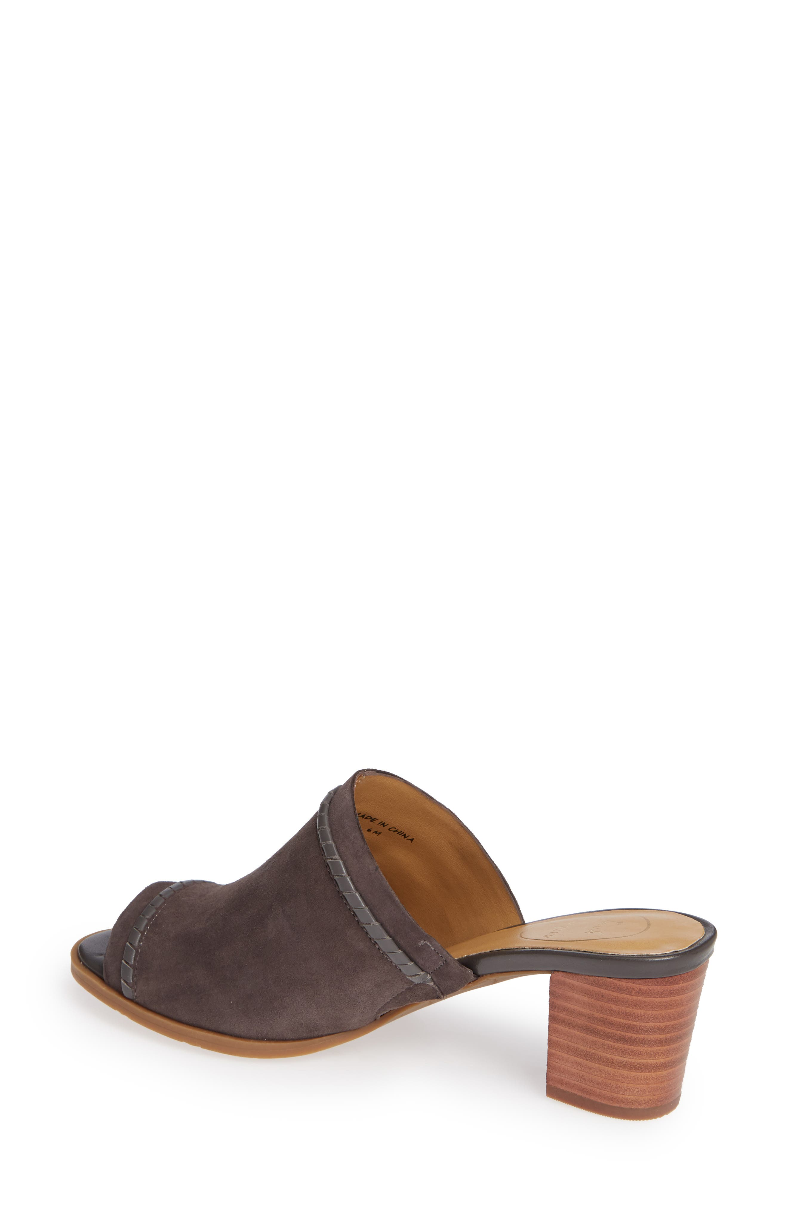 Campbell Mule,                             Alternate thumbnail 2, color,                             CHARCOAL SUEDE