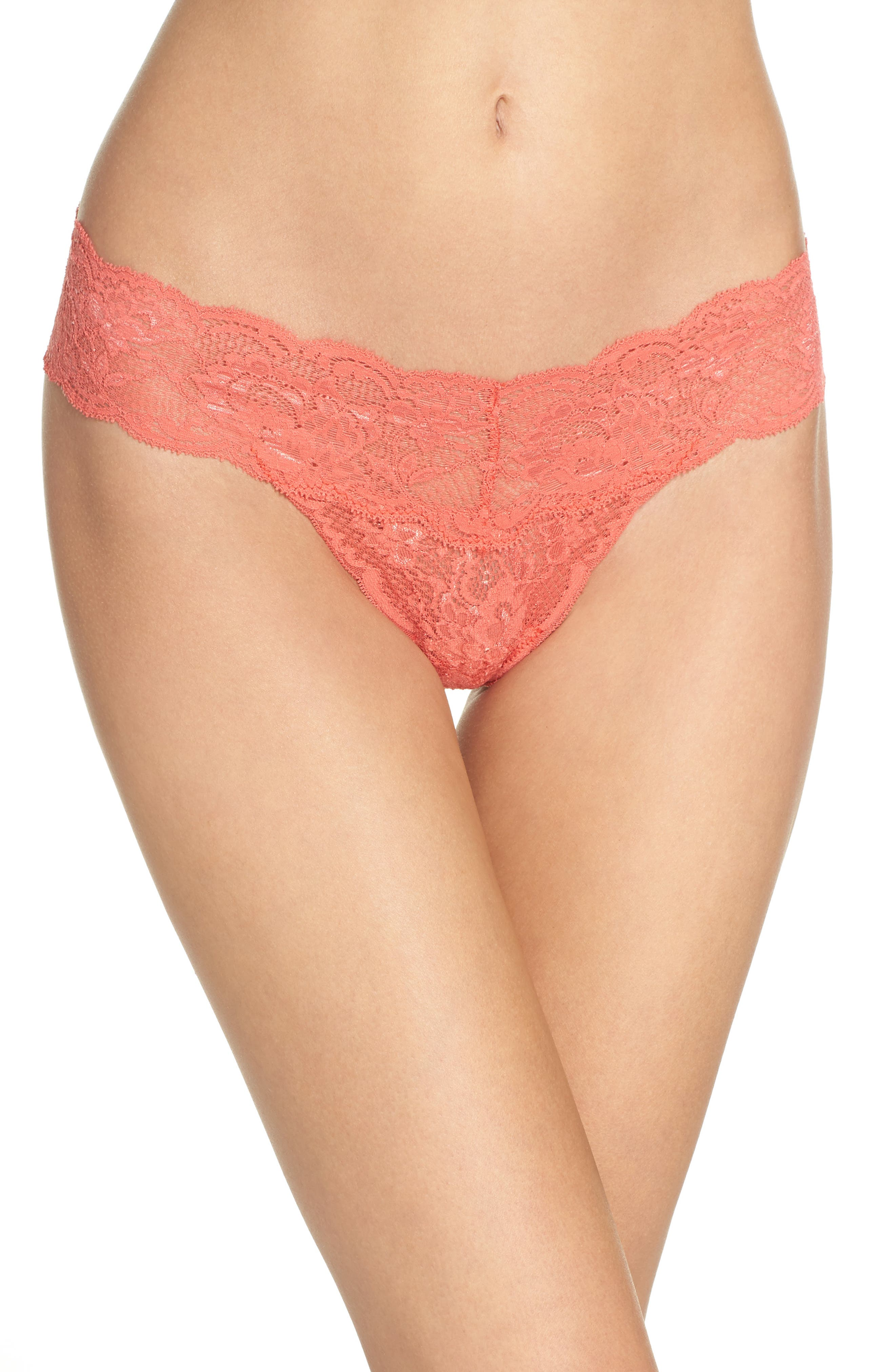 'Never Say Never Cutie' Thong,                             Alternate thumbnail 123, color,