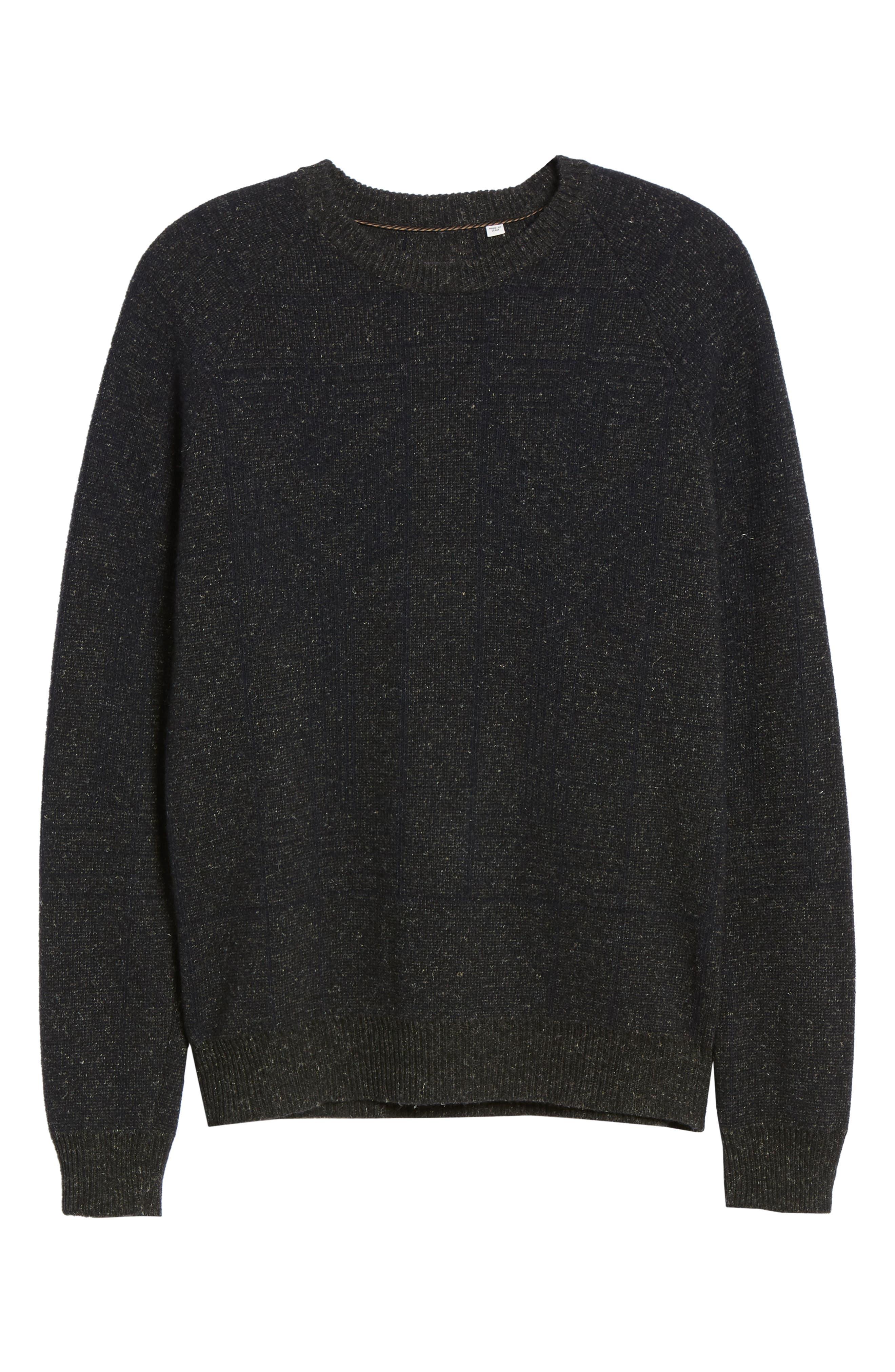 Regular Fit Crewneck Sweater,                             Alternate thumbnail 6, color,                             CHARCOAL